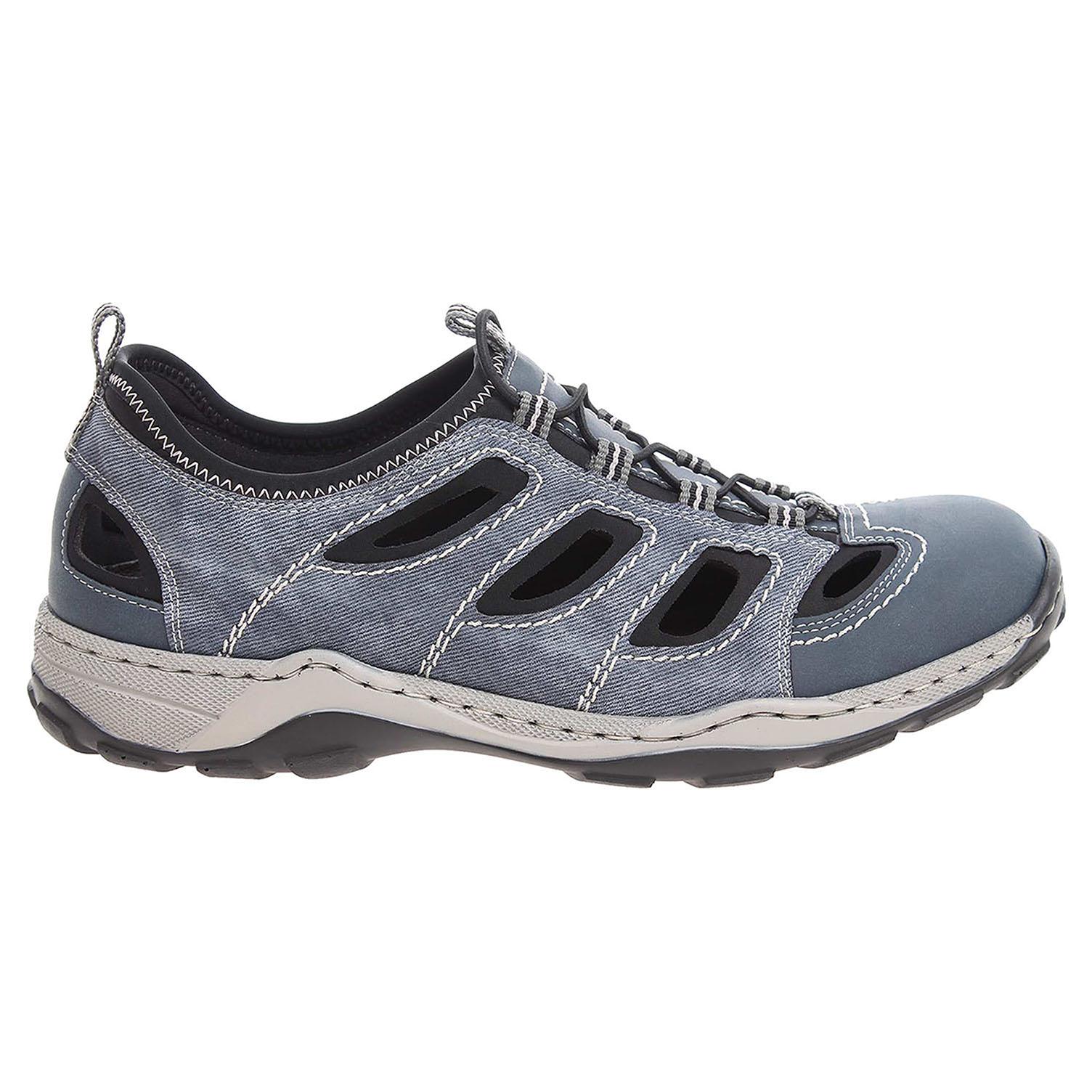 Ecco Rieker pánské sandály 08065-14 modré 24700224