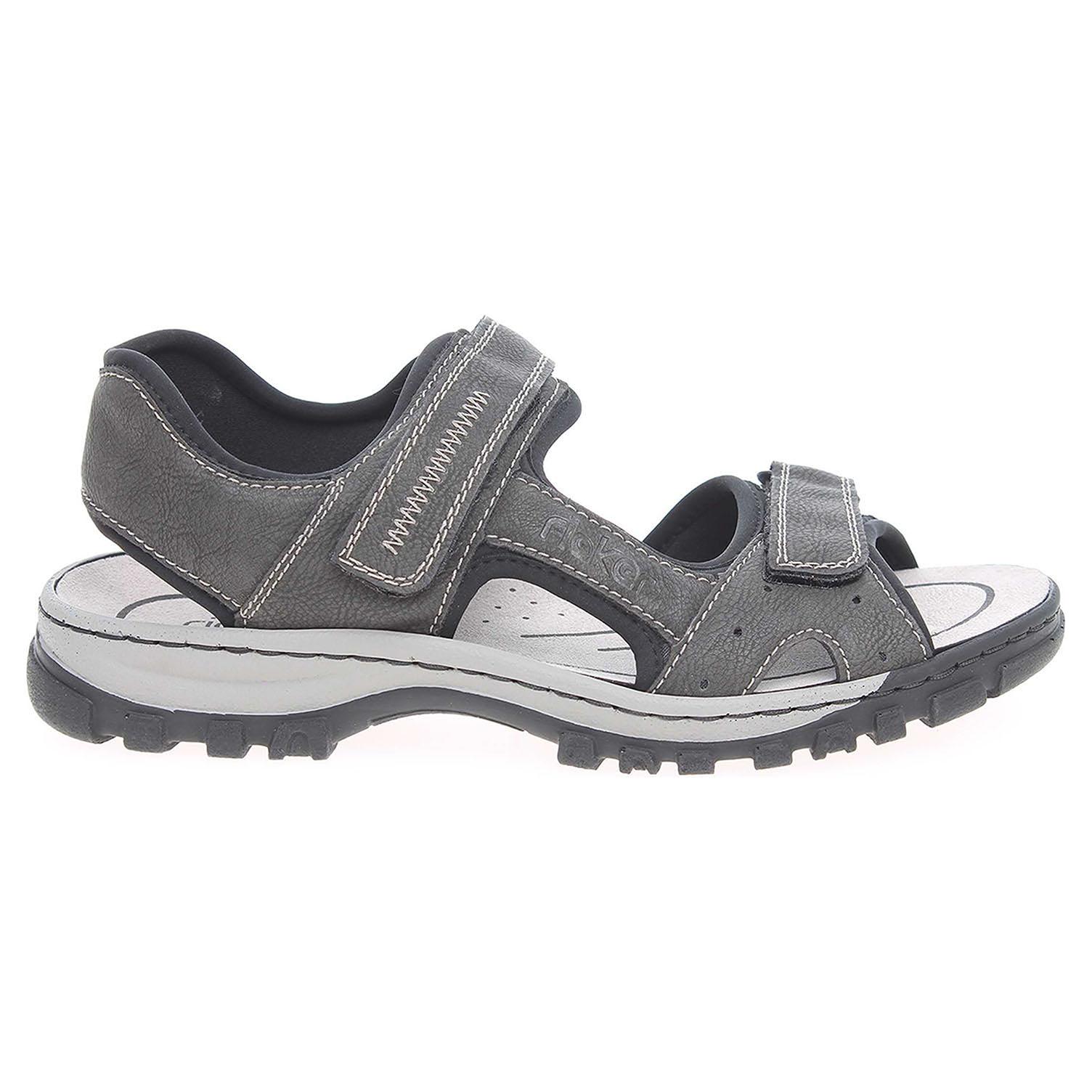 Rieker pánské sandály 25084-45 šedé 42