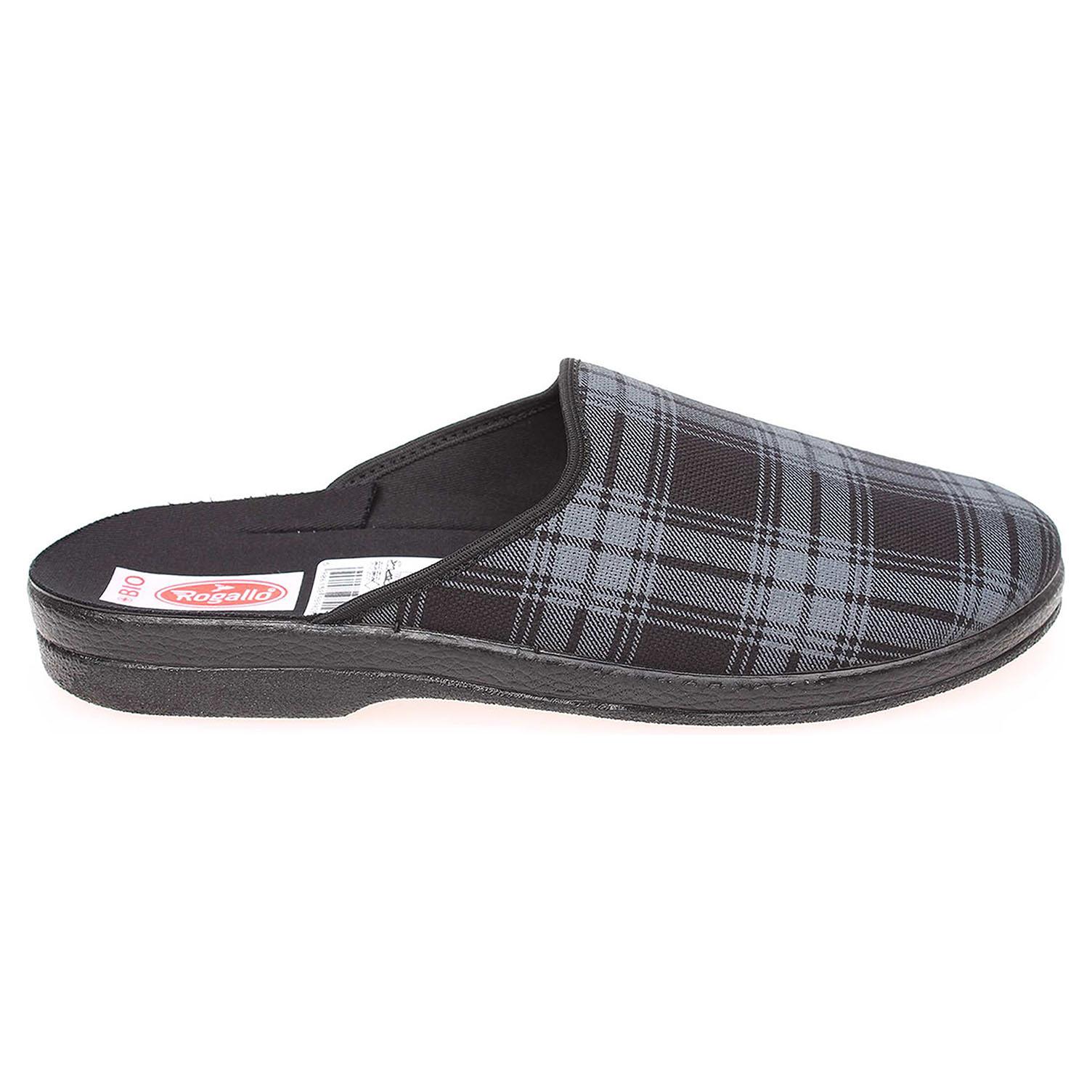 Rogallo pánské domácí pantofle 18902 černá-šedá 45