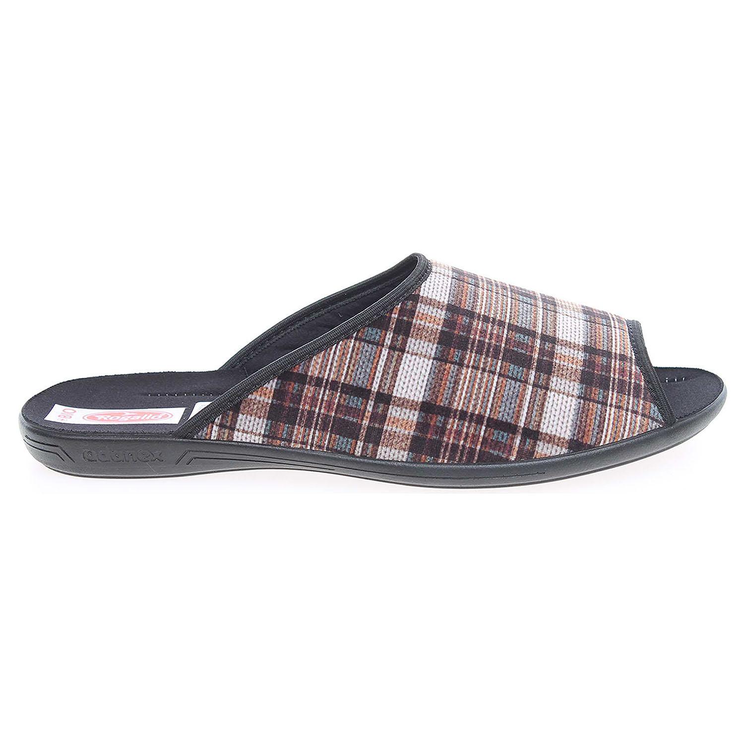 Rogallo domácí pantofle 21112 hnědé 41