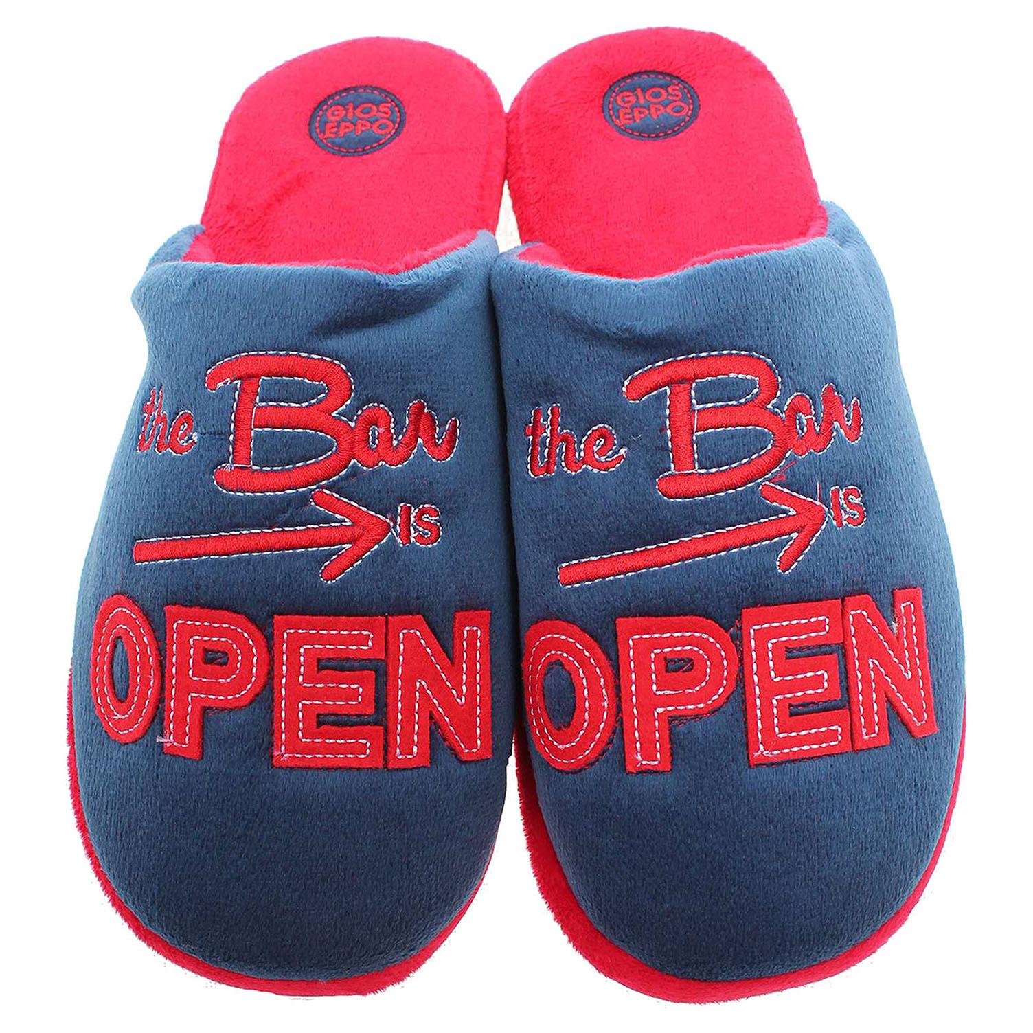 Gioseppo Open pánské domácí pantofle modrá-červená 40