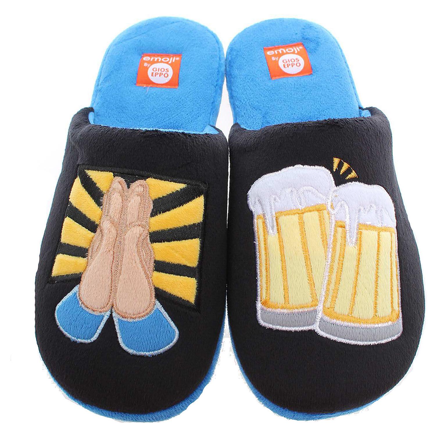 Gioseppo Yusei pánské domácí pantofle černá-modrá 40
