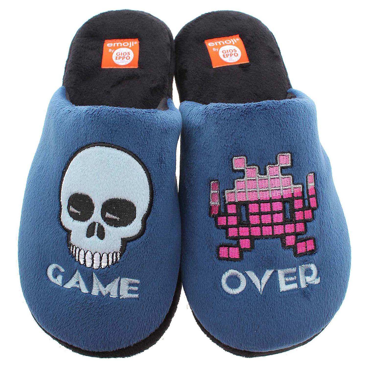 Gioseppo Shion pánské domácí pantofle modrá-černá 40