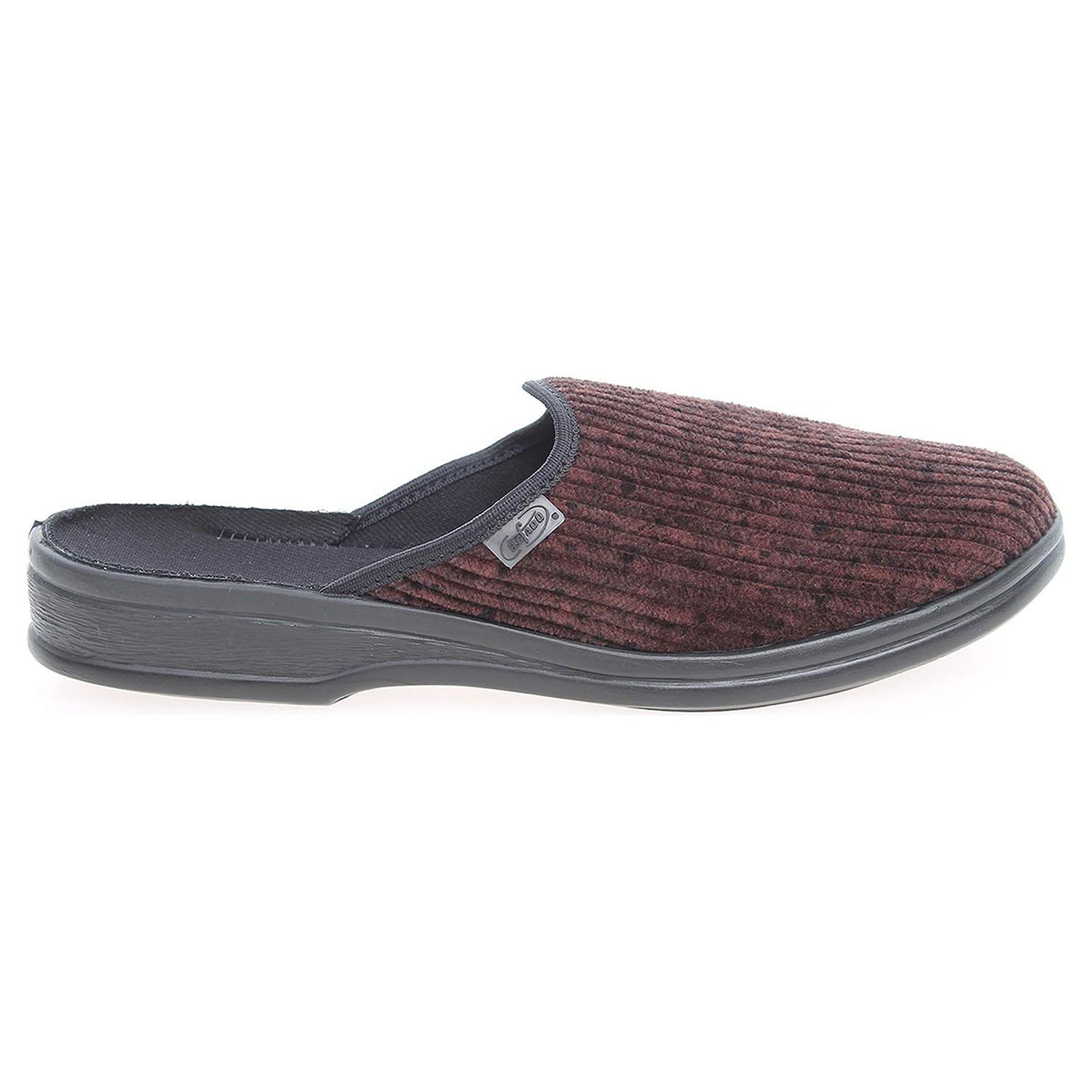 Befado pánské domácí pantofle 089M390 hnědé 42