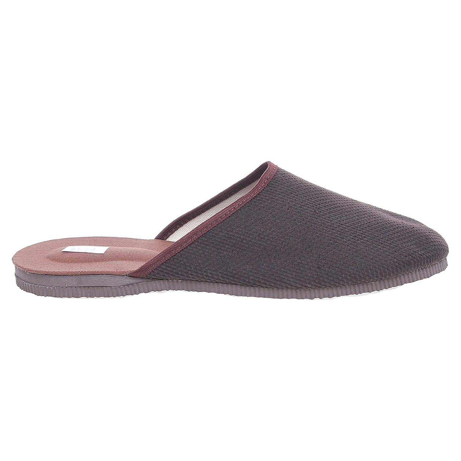 Pánské domácí pantofle 1009.00 hnědé 41