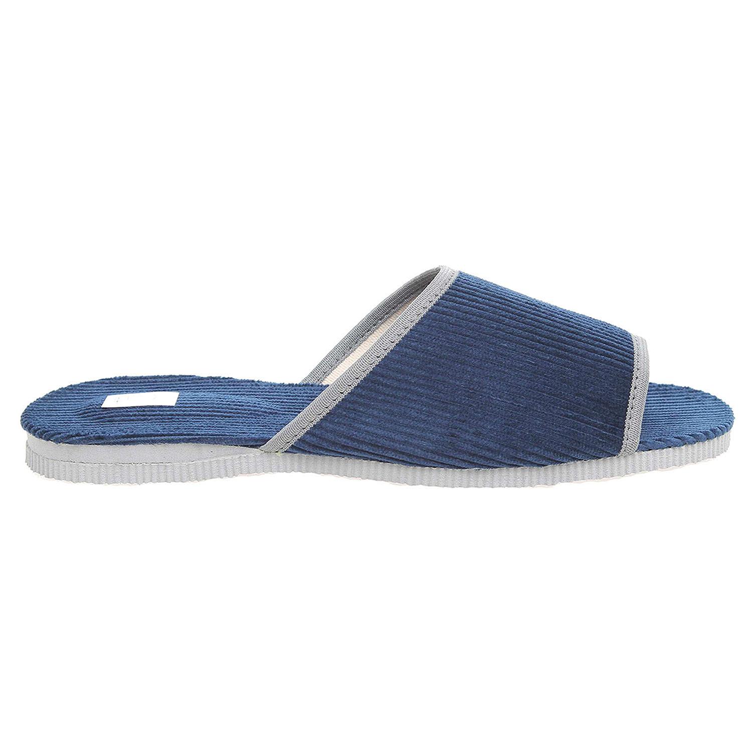 Ecco Pánské domácí pantofle 3009.00 modré 24800246
