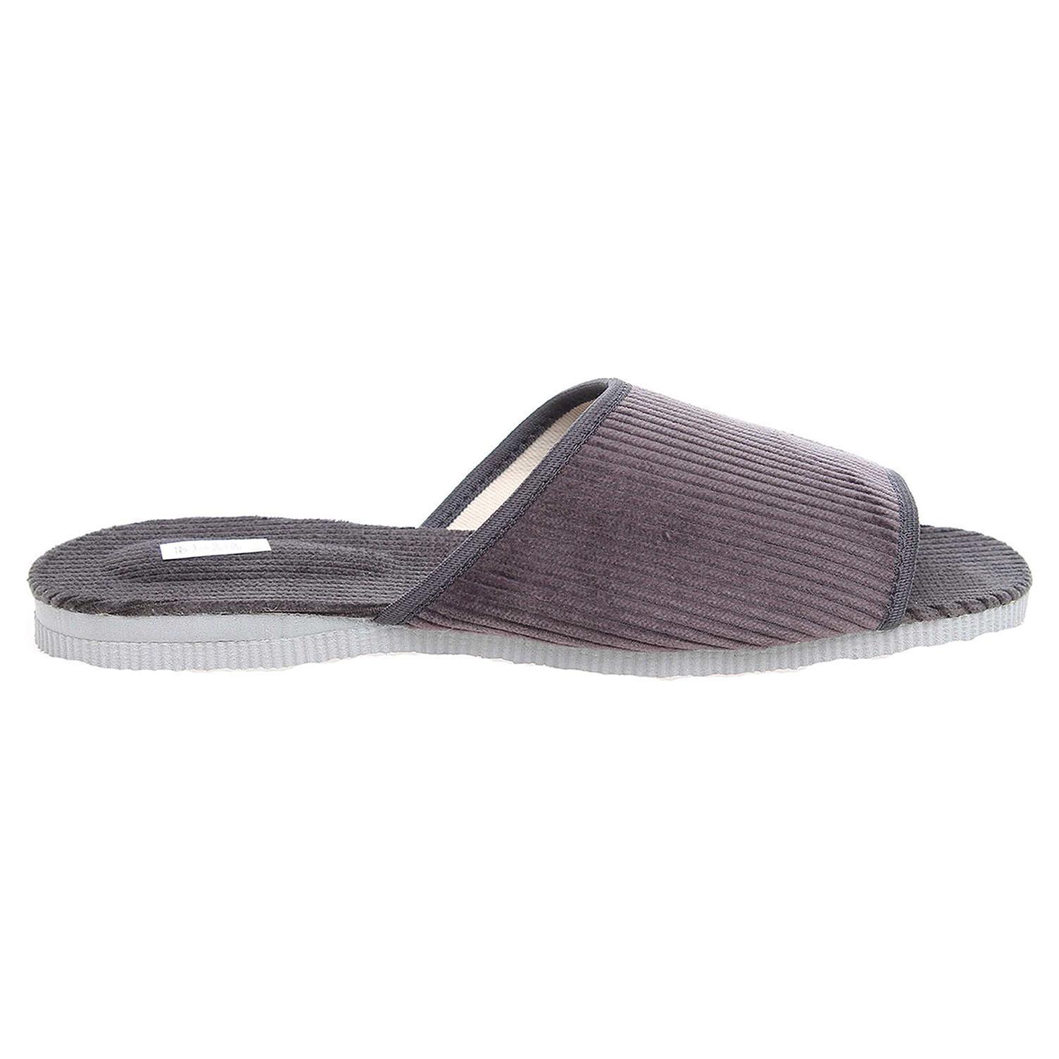 Ecco Pánské domácí pantofle 3009.00 šedé 24800247