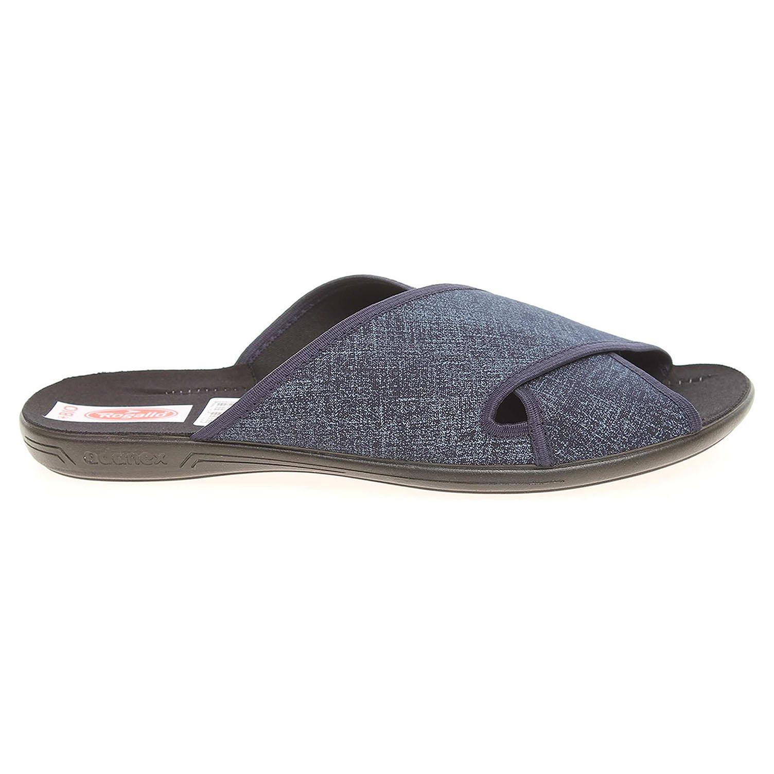Ecco Rogallo pánské domácí pantofle 21764 modré 24800251