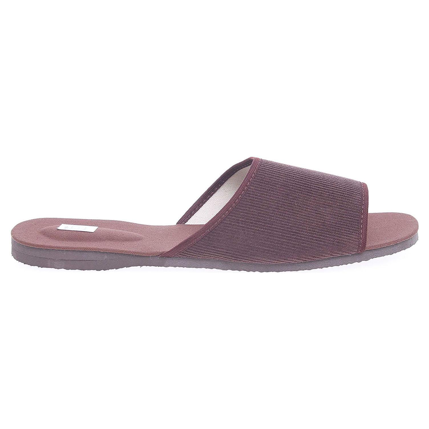Pánské domácí pantofle hnědé 3009.00 48
