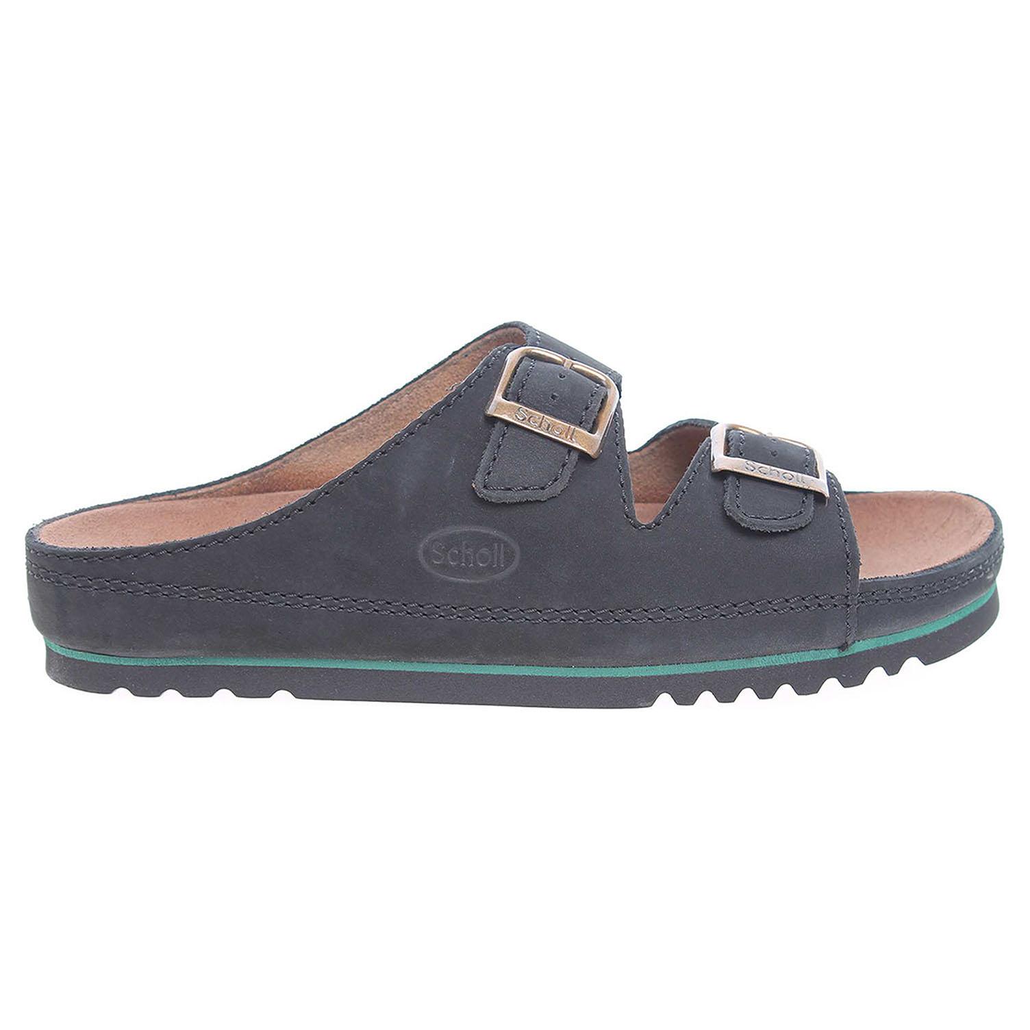 Ecco Scholl pánské pantofle F21531 1004 Air Bag černé 24800255