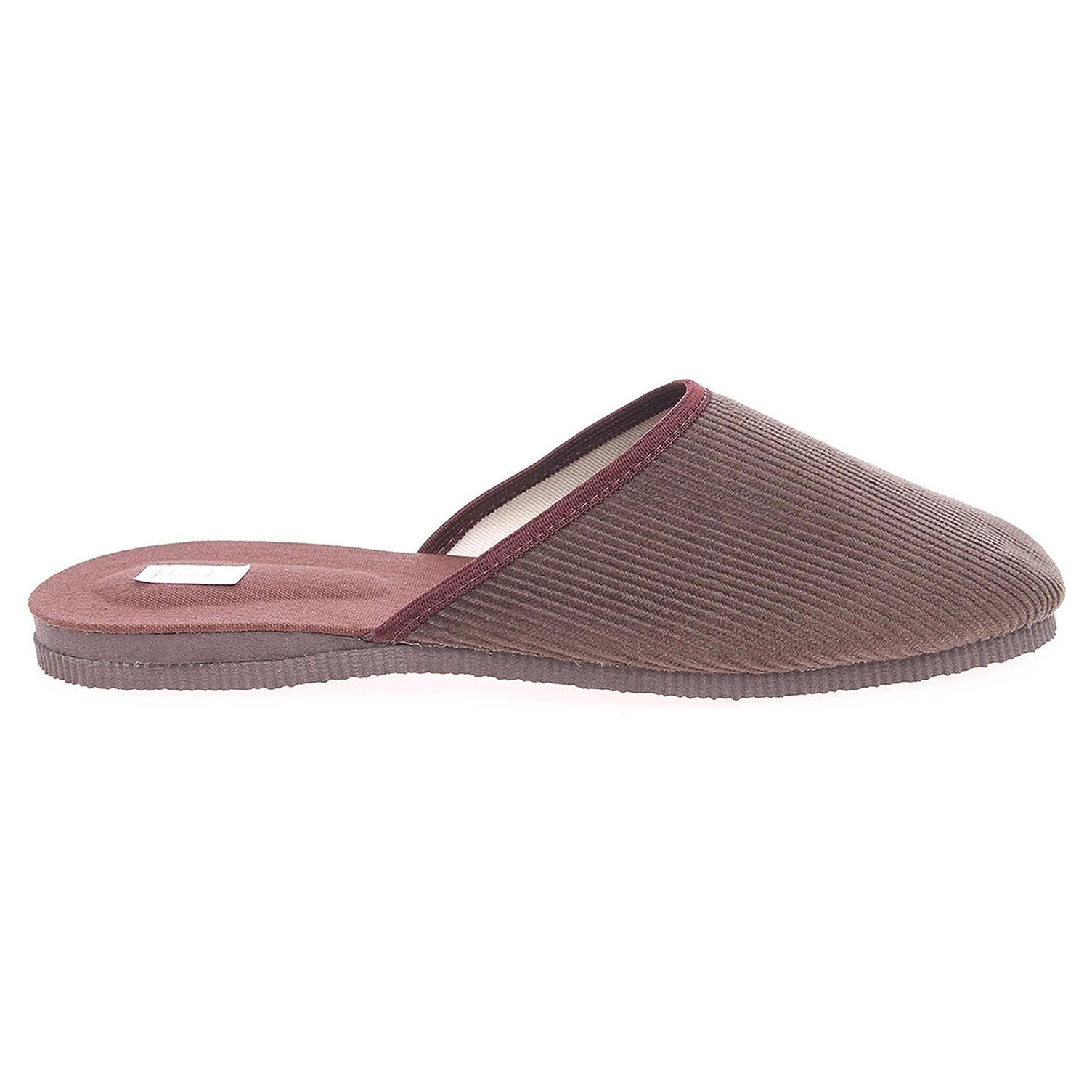 Pánské domácí pantofle 1009.00 khaki-hnědá 43