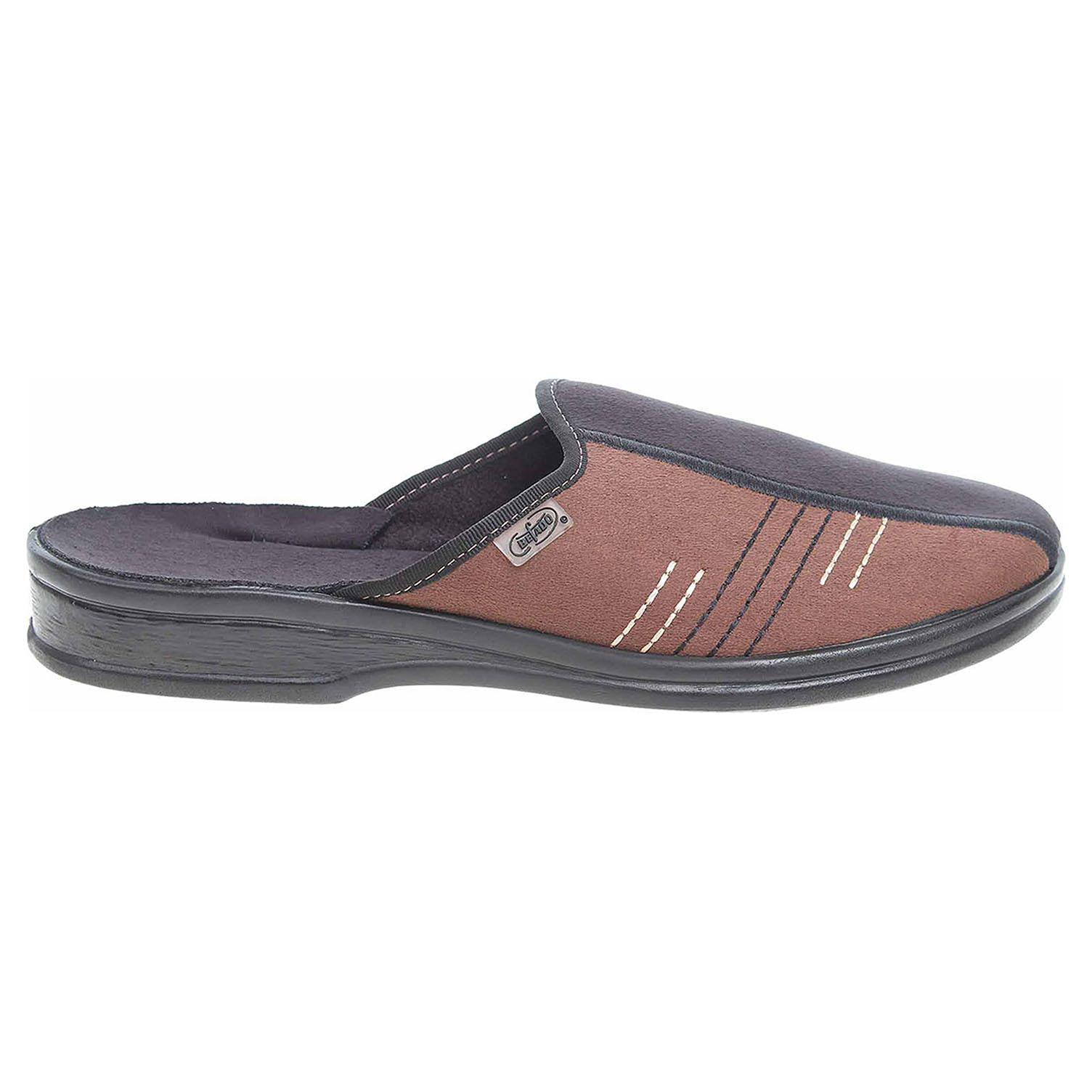 Befado pánské domácí pantofle 093M018 černá-hnědá 093M018 41