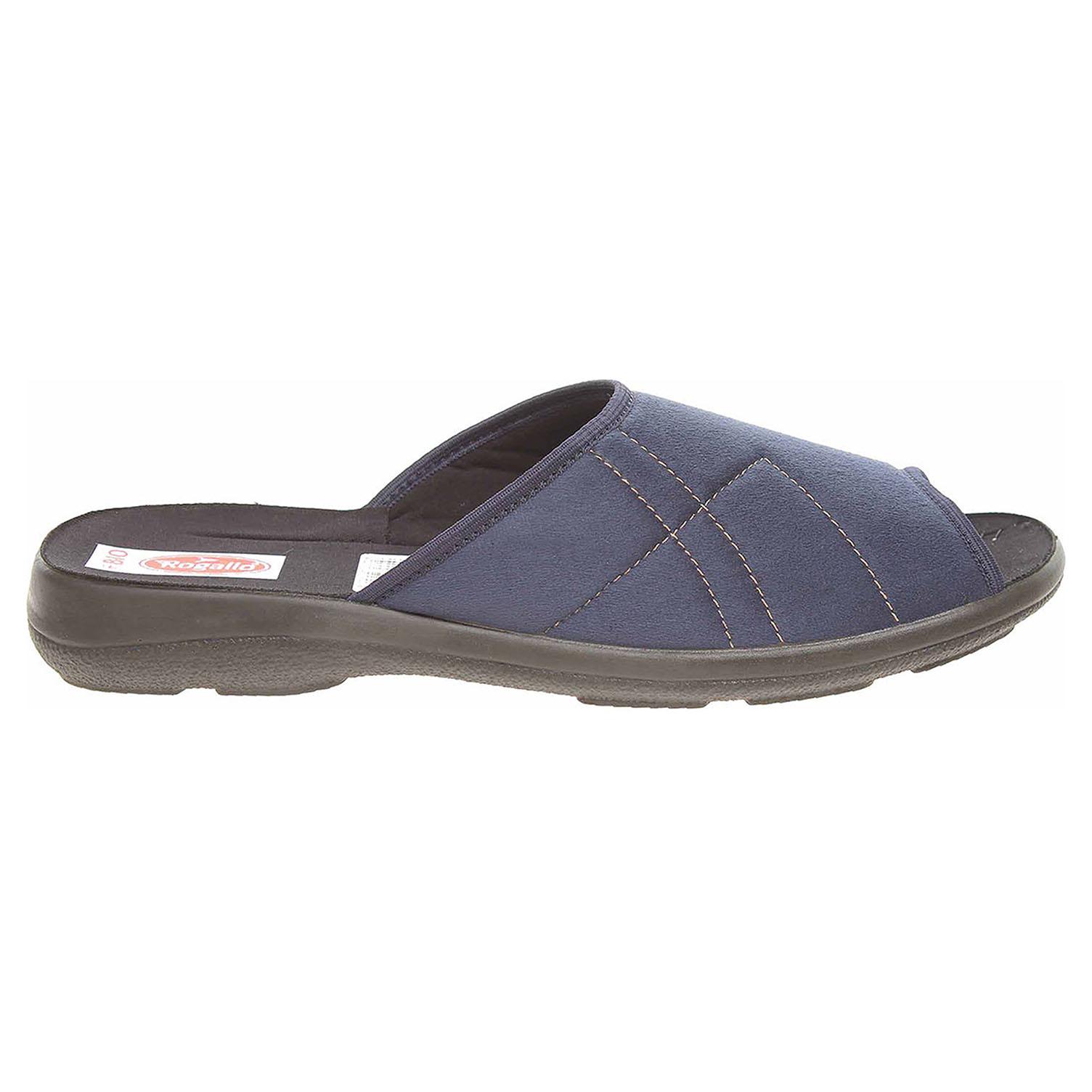 Ecco Rogallo pánské domácí pantofle 22506 modré 24800266