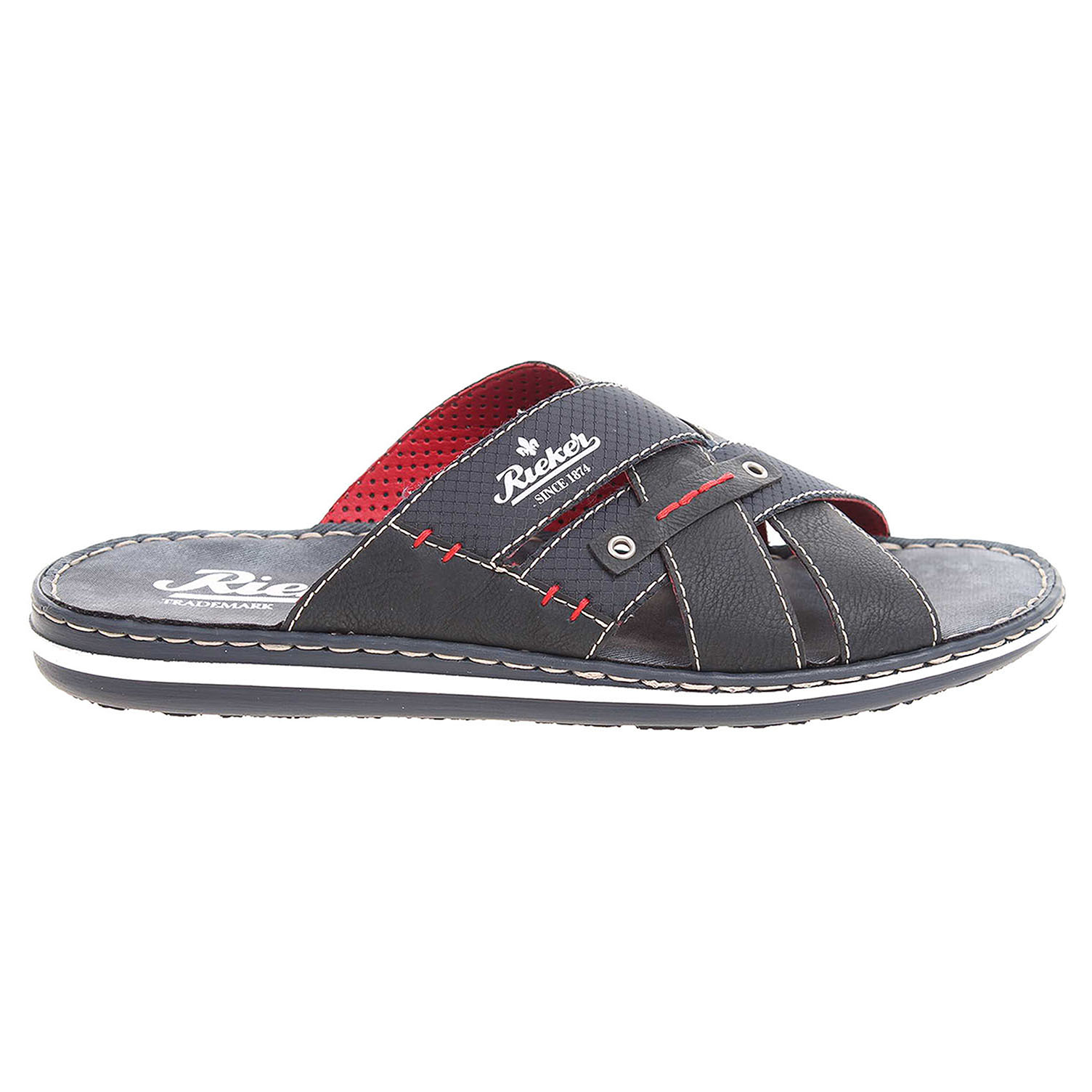 Rieker pánské pantofle 21099-14 modré 44