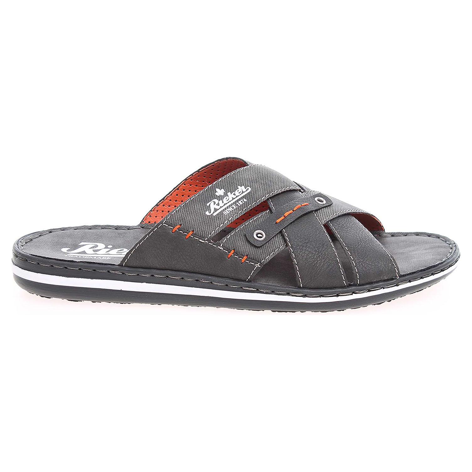 Rieker pánské pantofle 21099-45 šedé 46