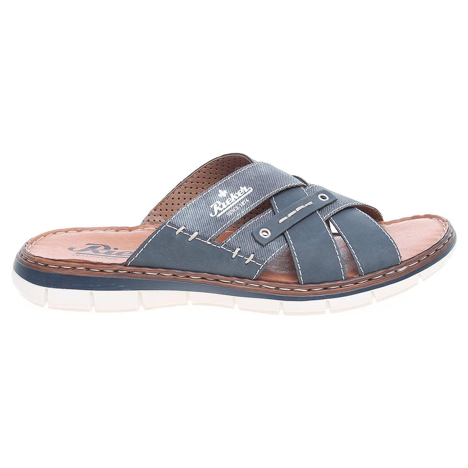 Rieker pánské pantofle 25199-14 modré 40