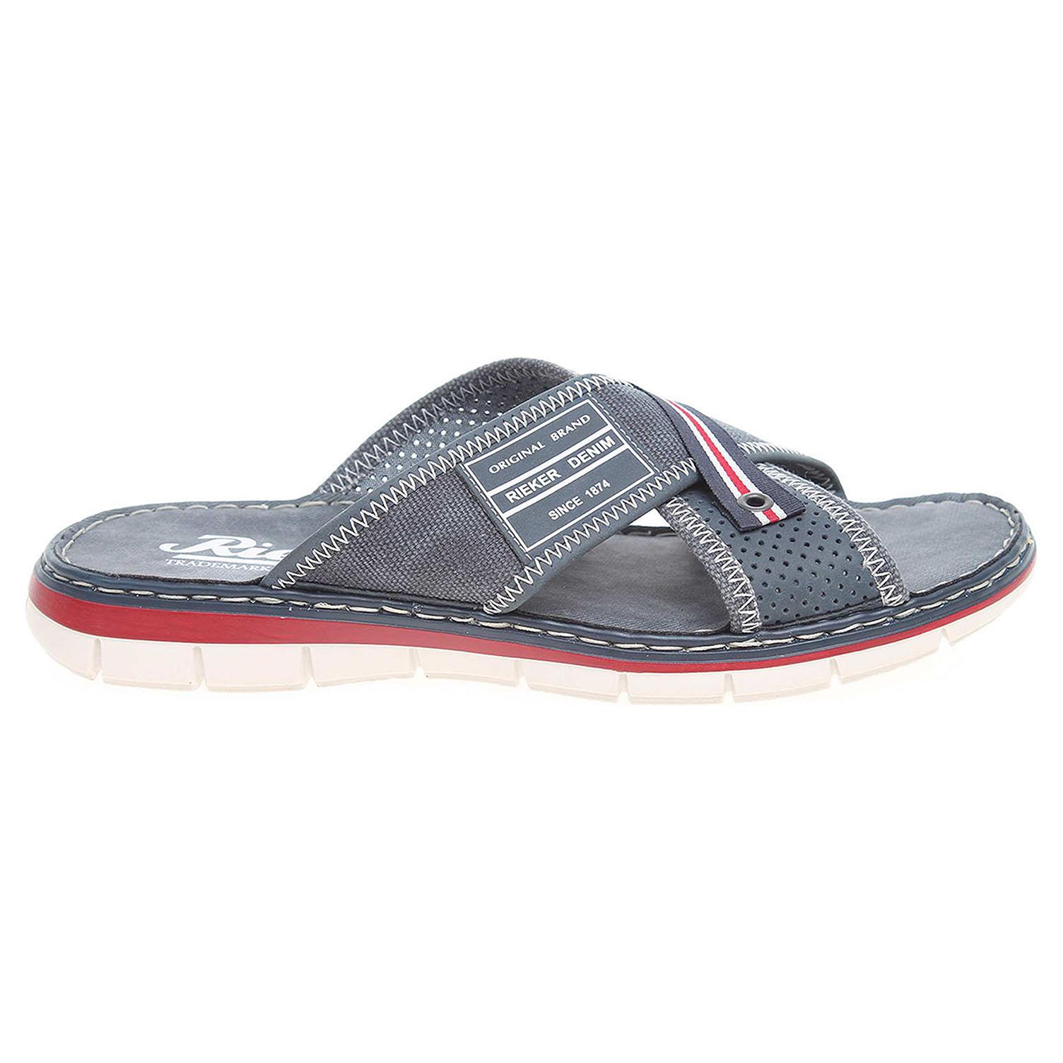 Rieker pánské pantofle 25163-14 modré 40