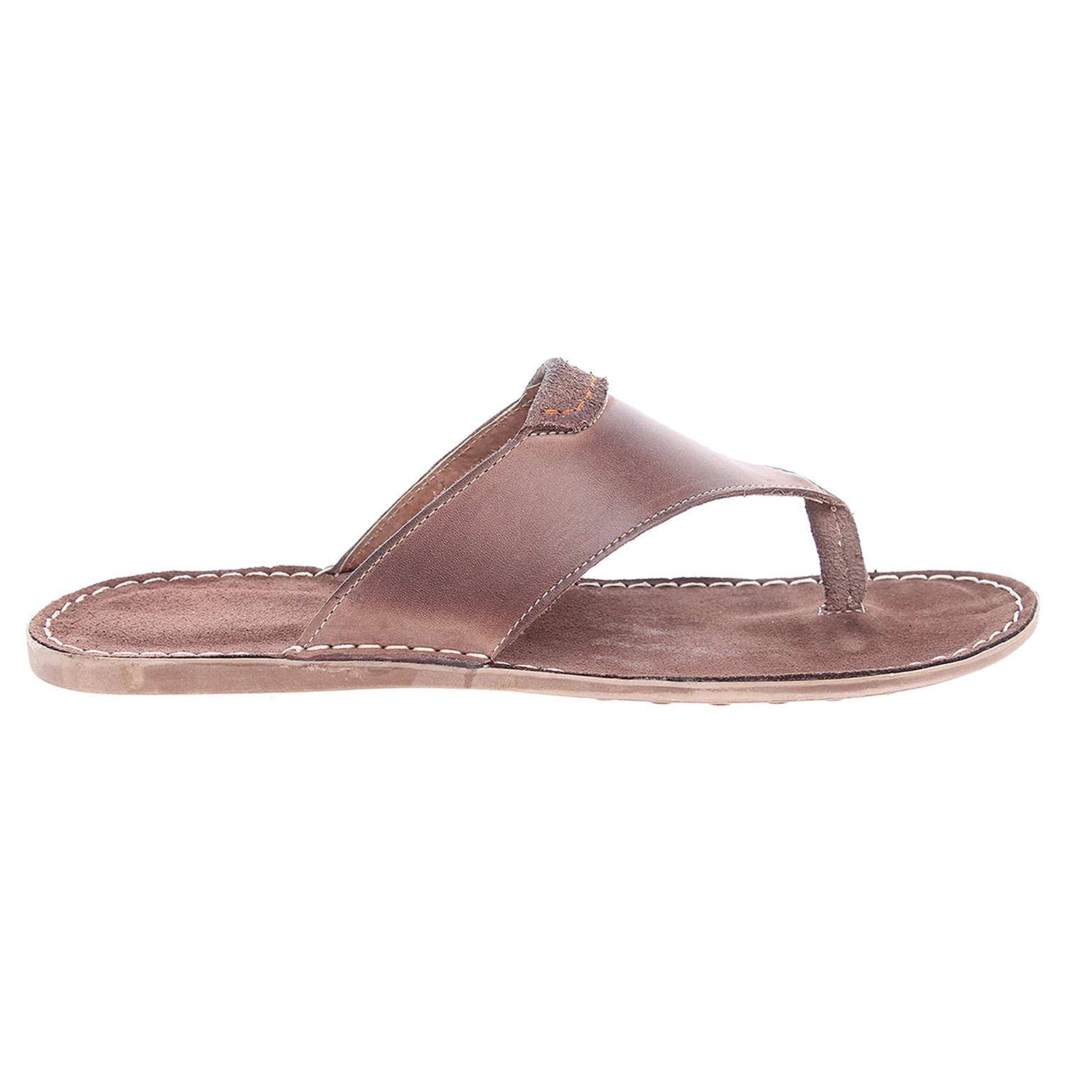 Ecco Pánské pantofle F 0376 hnědé 24900158