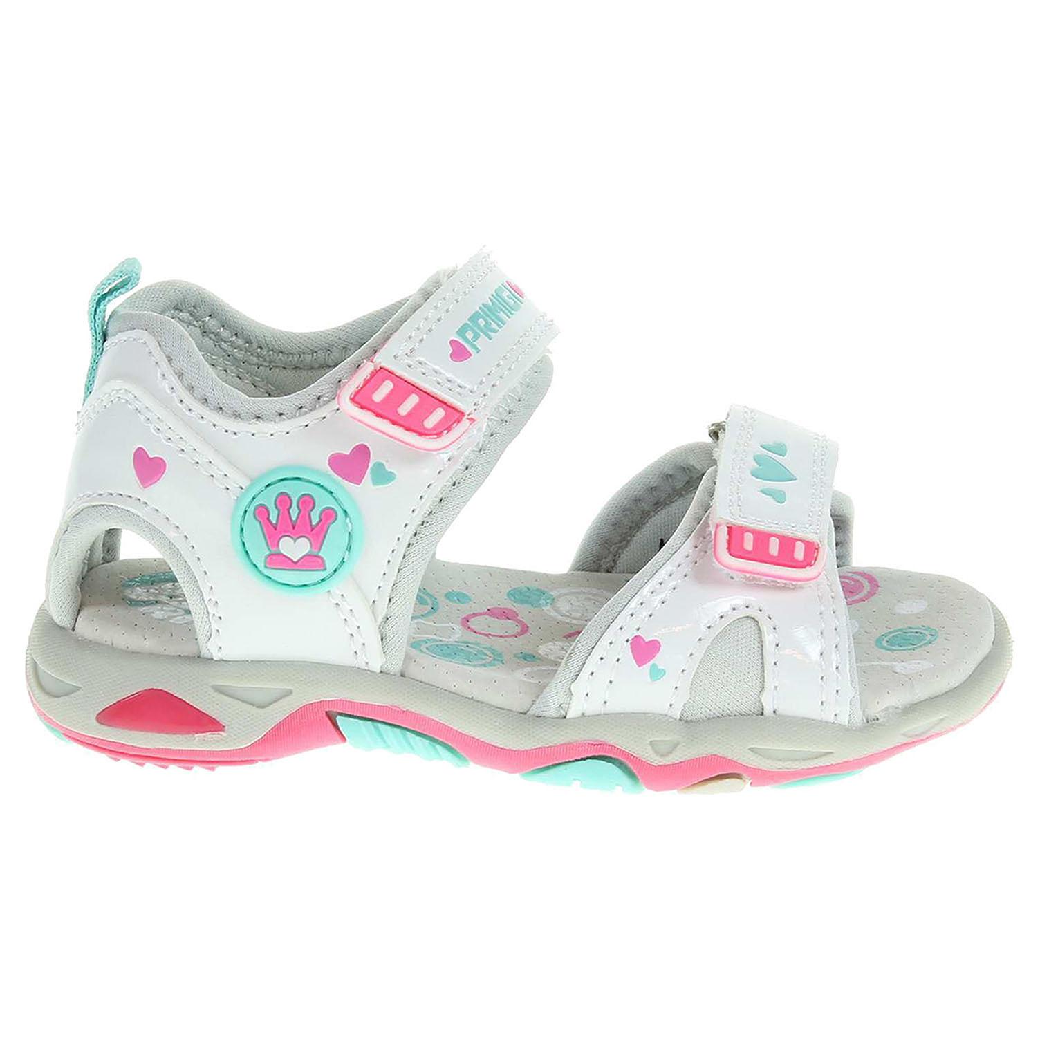 Ecco Primigi dívčí sandály 7283100 bílé 26100107