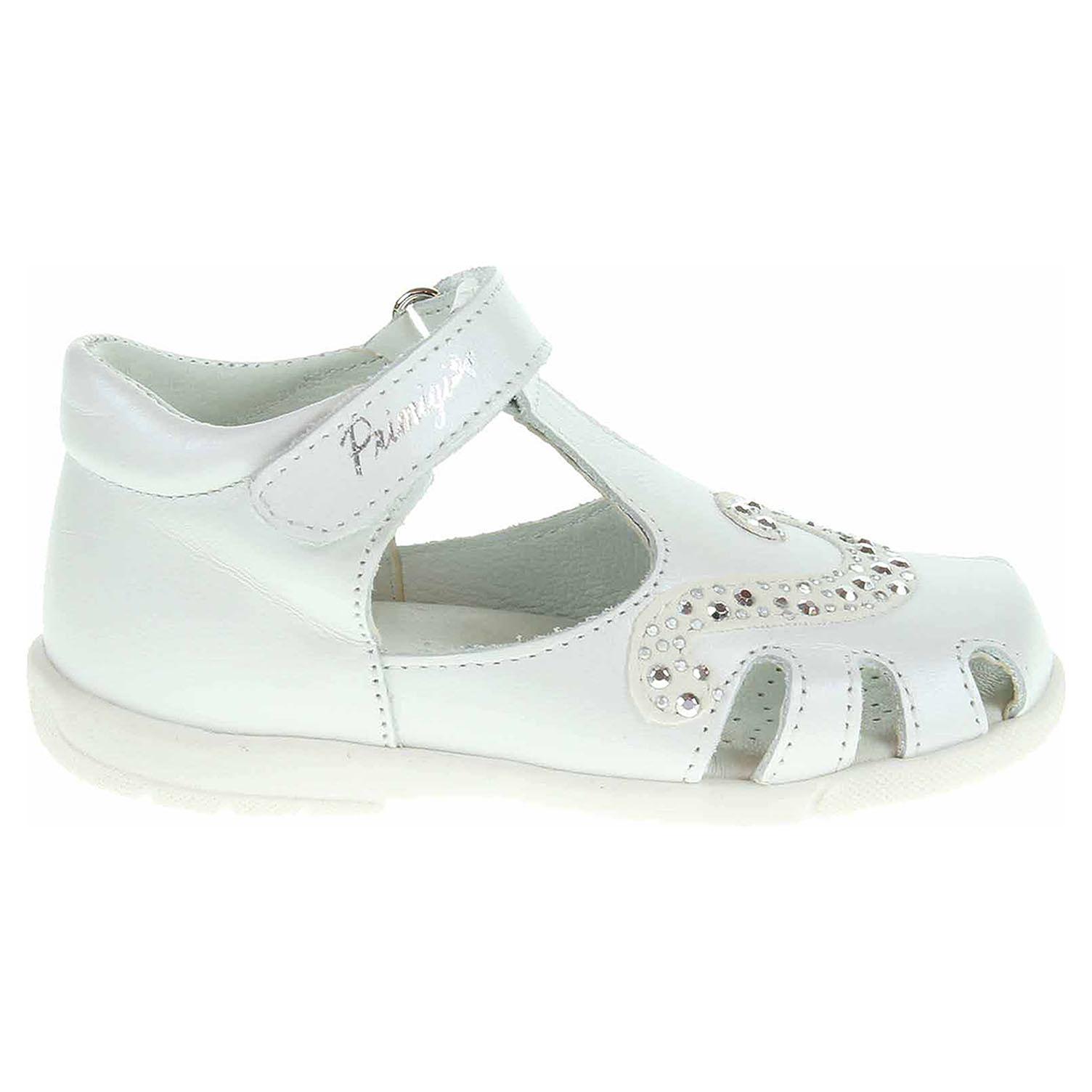 Ecco Primigi dívčí sandály 7018200 bílé 26100114