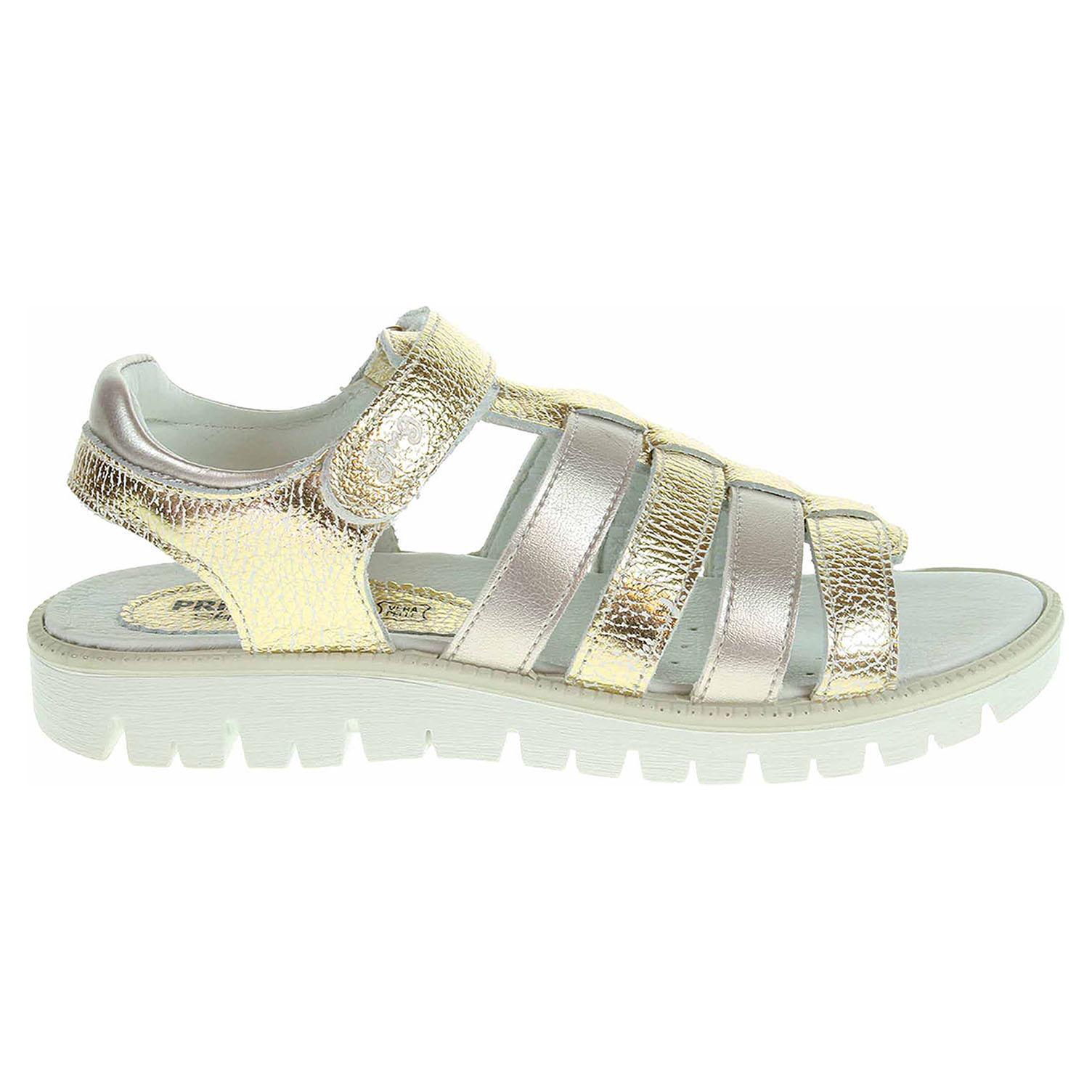 Ecco Primigi dívčí sandály 7612200 zlaté 26100121