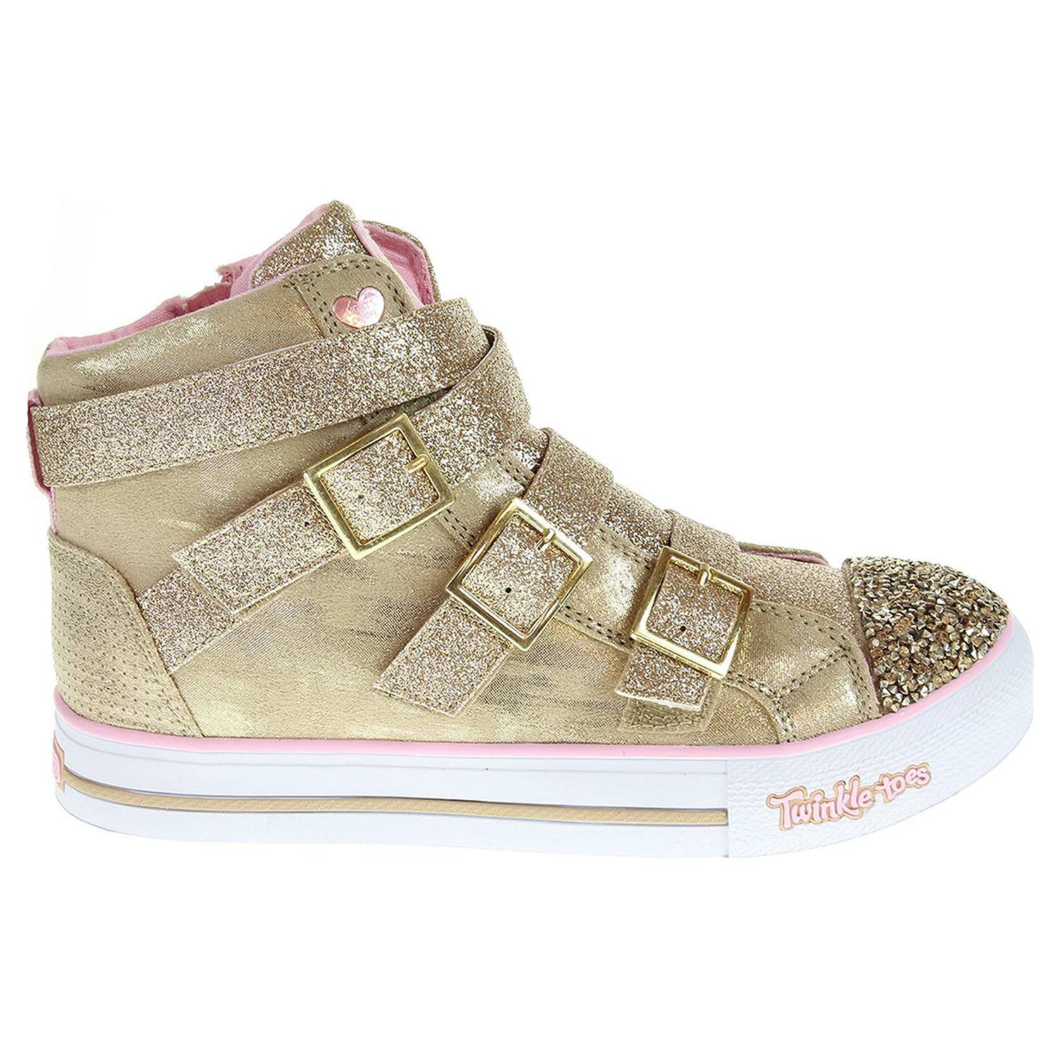 Skechers Crisscross Craze gold-pink 27