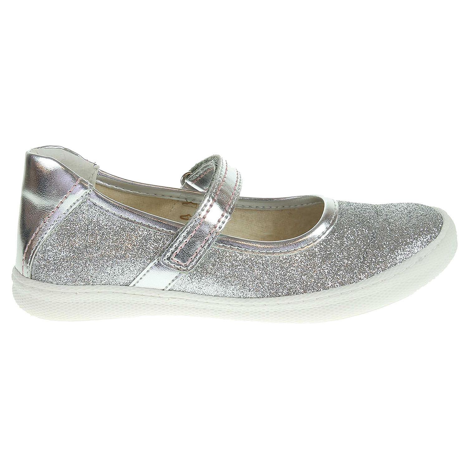 Primigi Steffy 5185377 dívčí baleriny stříbrné 25