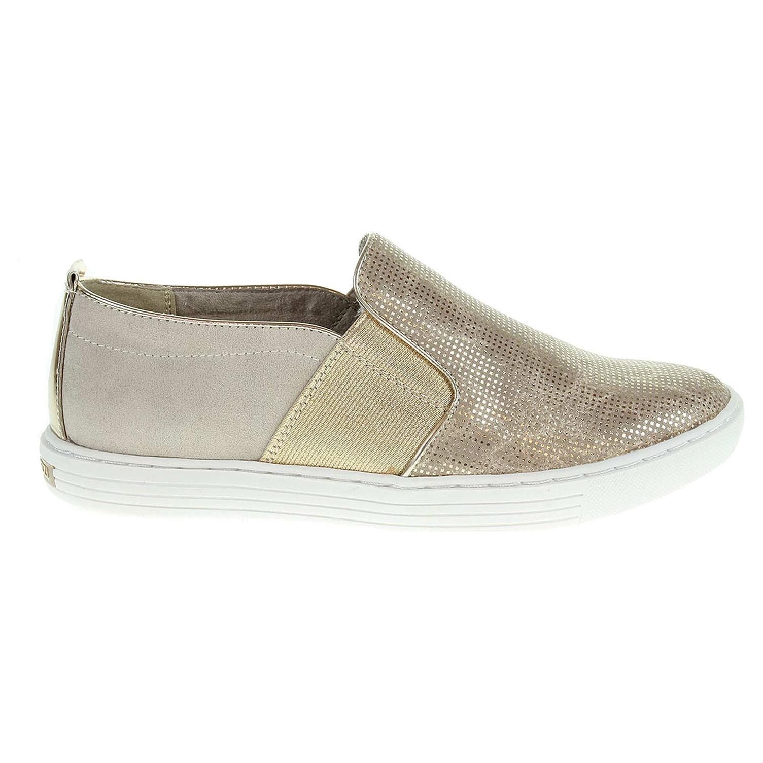 Ecco Marco Tozzi dívčí obuv 2-44200-28 zlatá-béžová 26600121
