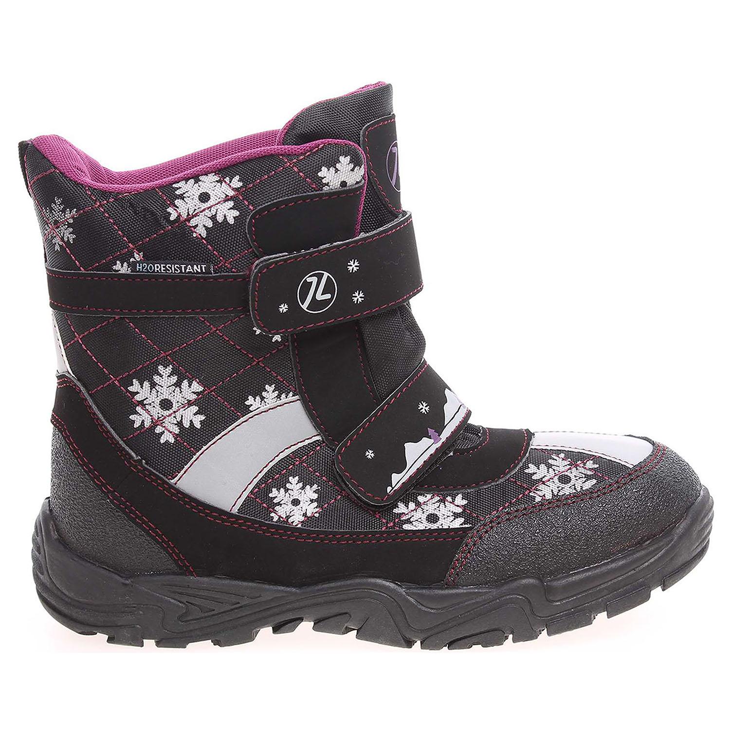 Ecco Dívčí sněhule 151038 B černá - vínová 26700053