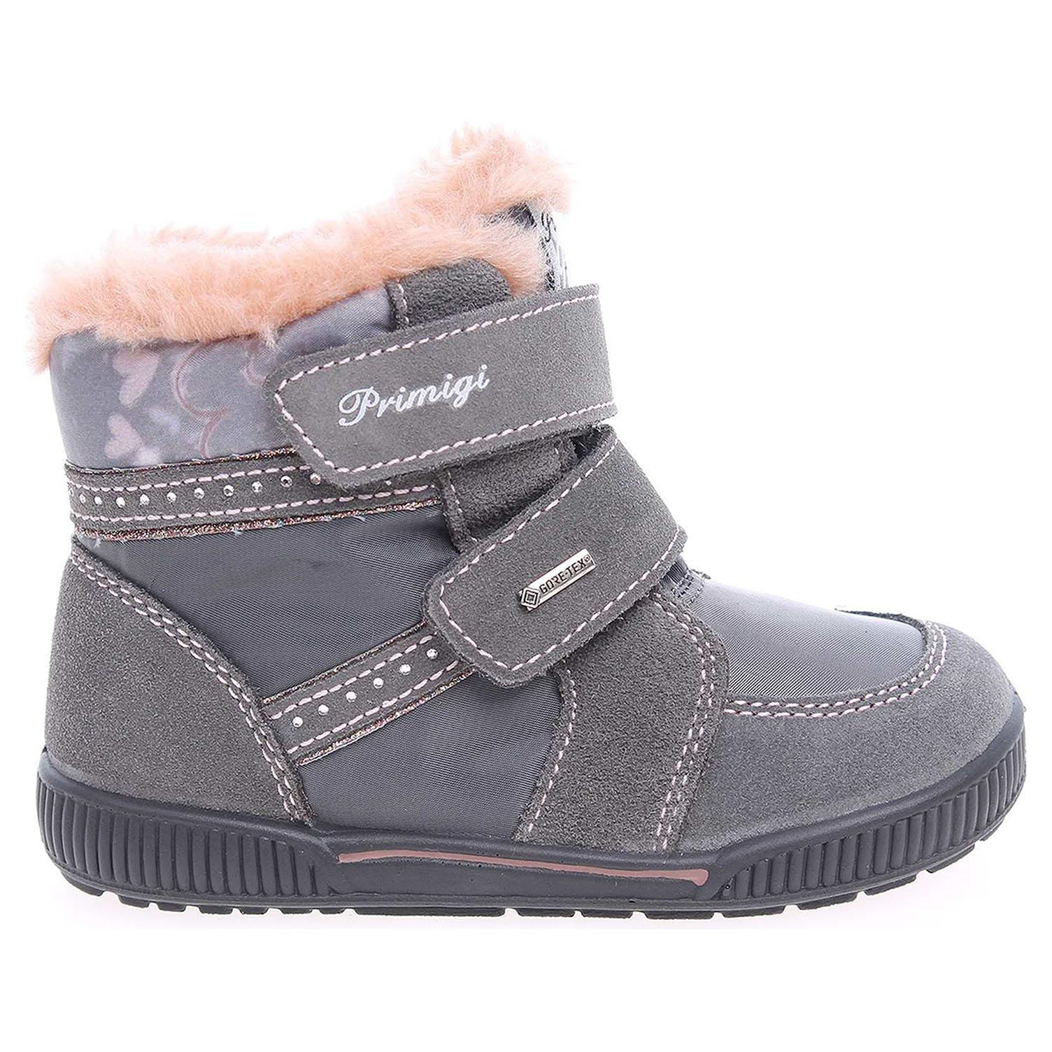 Ecco Primigi Bissy 6547177 dívčí sněhule šedé 26700056