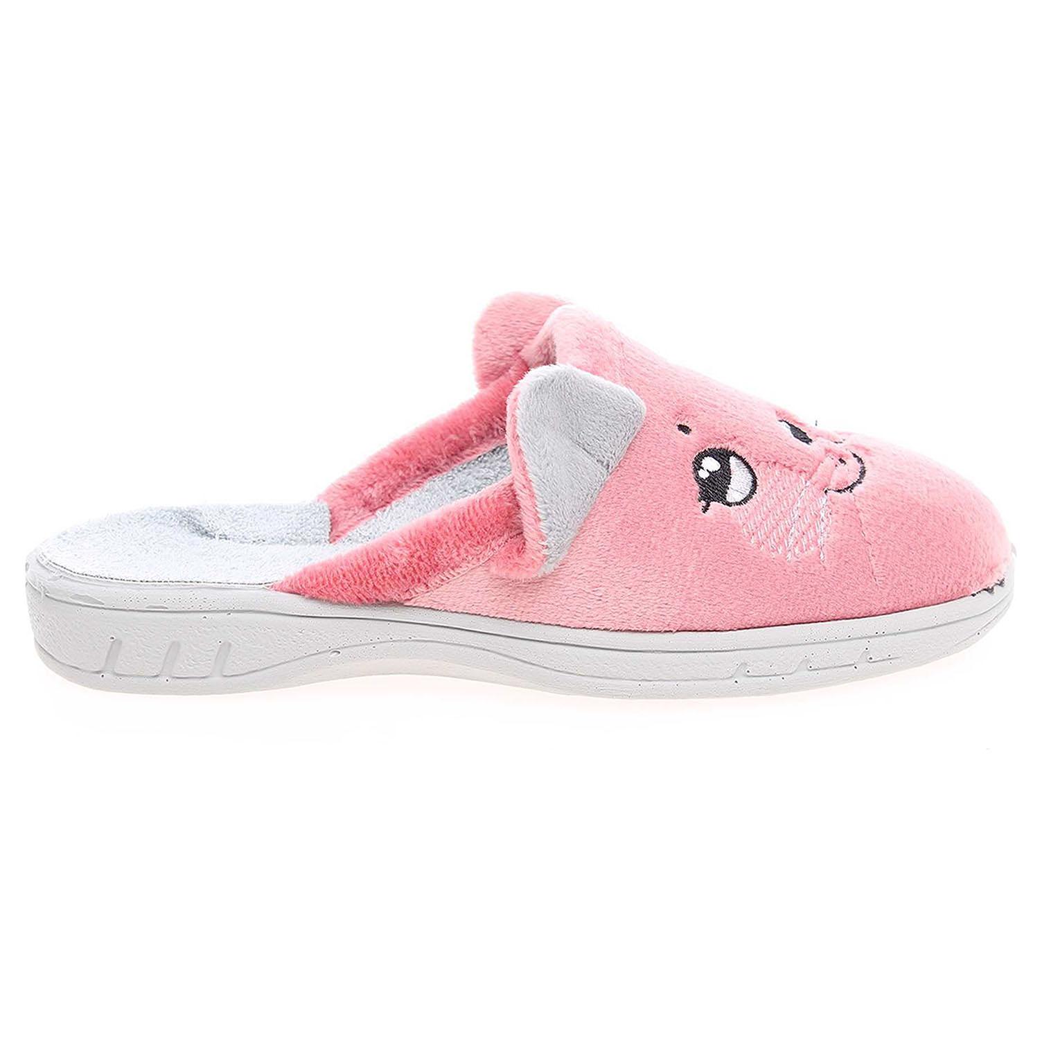 Befado dívčí domácí pantofle 707X386 růžové 29