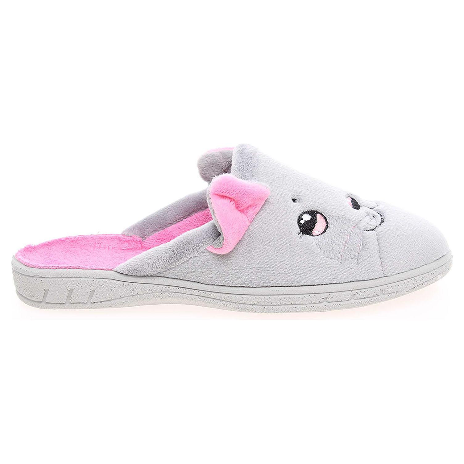 Befado dívčí domácí pantofle 707Y387 šedé 32