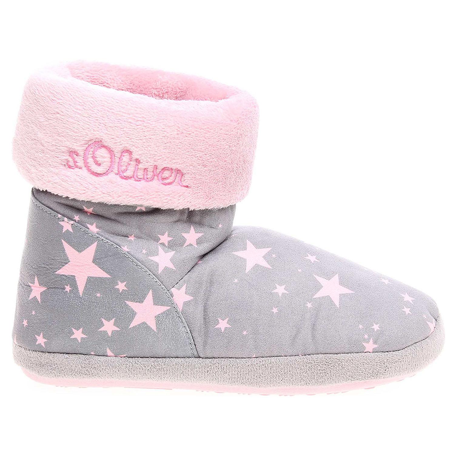 Oliver dívčí domácí obuv 5-35438-39 grey comb 26900173 e5ac8c7cc1