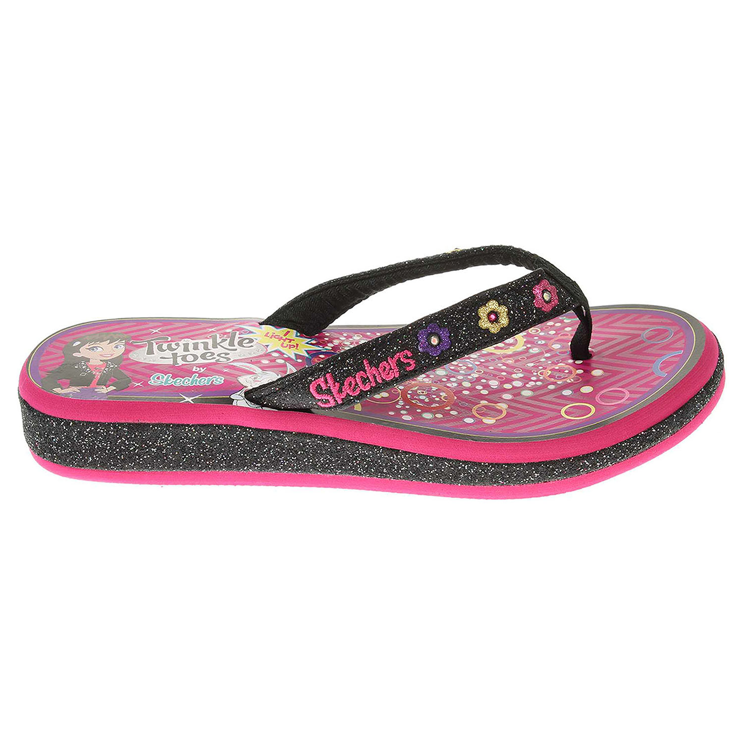 Skechers Summerglow bl/hot pink 30