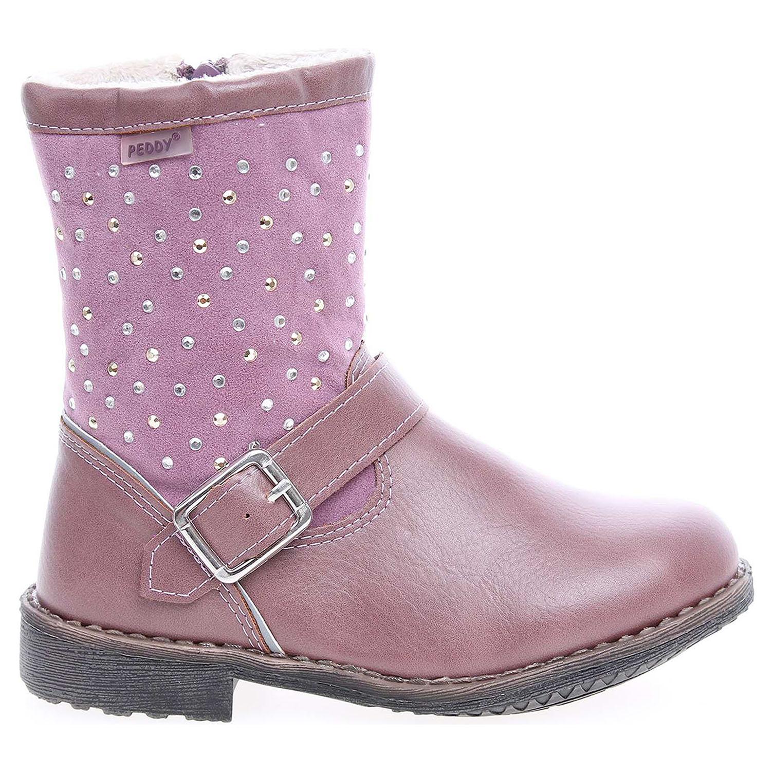 Ecco Peddy dívčí kozačky PV-633-35-02 růžové 27400028