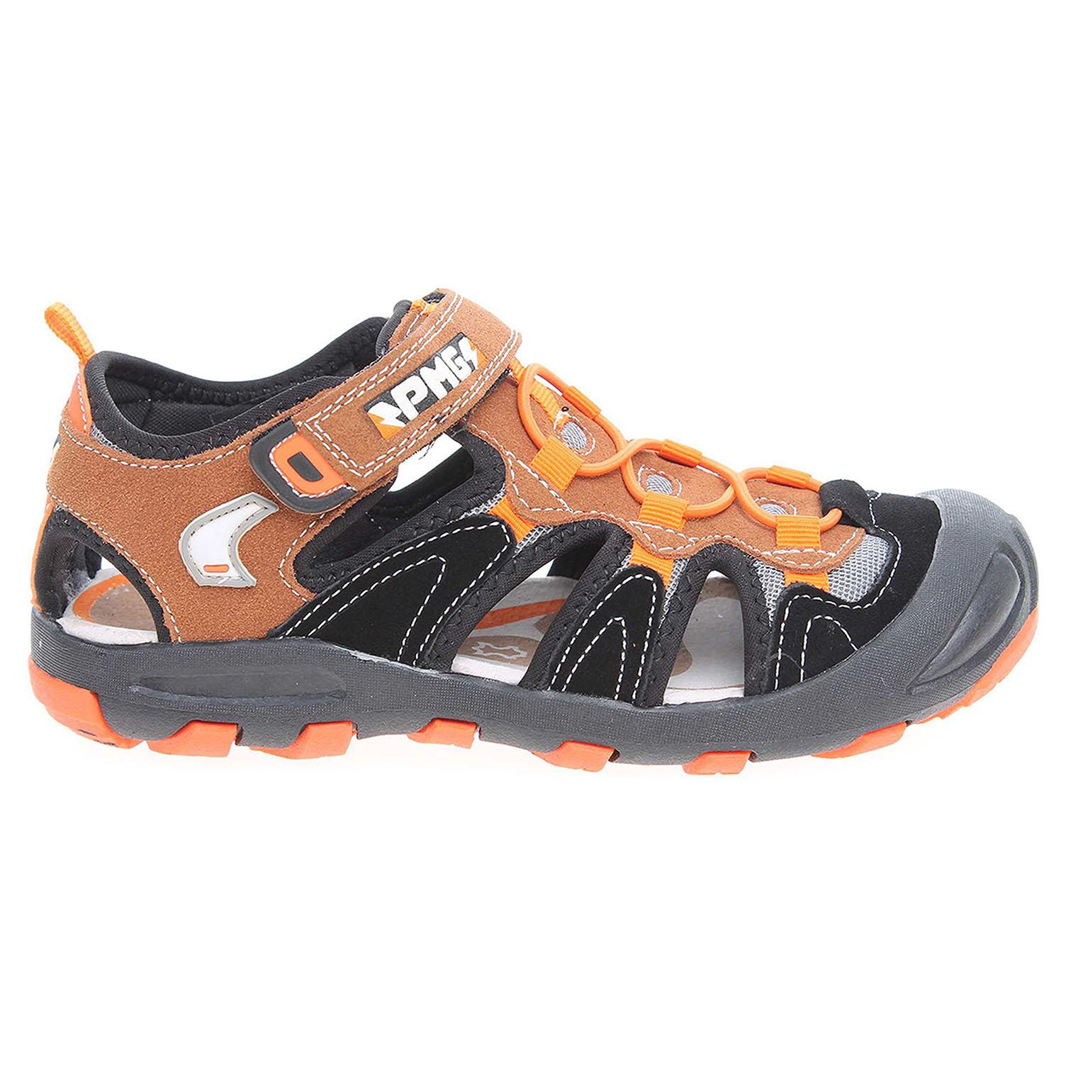 Ecco Primigi chlapecké sandály 7347277 hnědá-černá 29300076