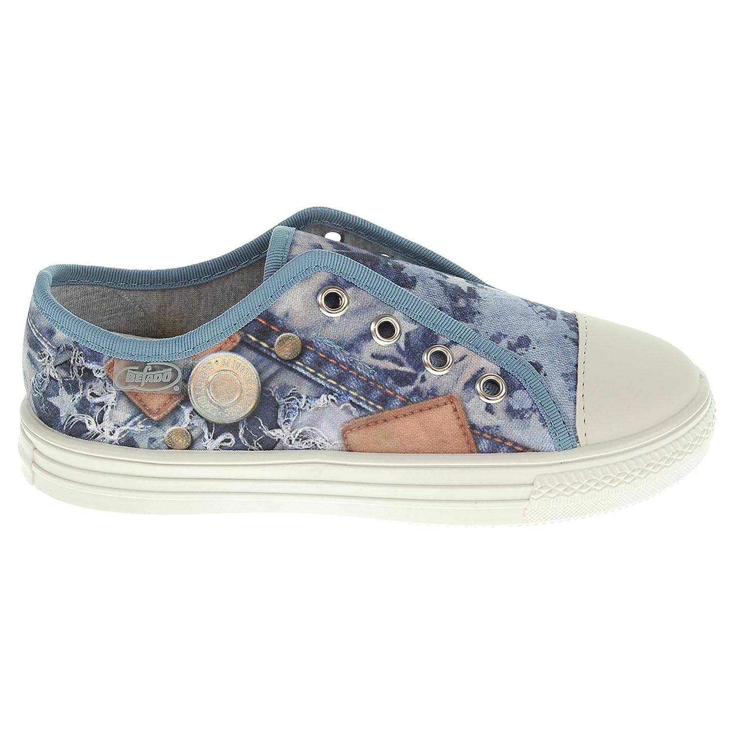 Ecco Befado chlapecká obuv 411X014 modrá 29400057