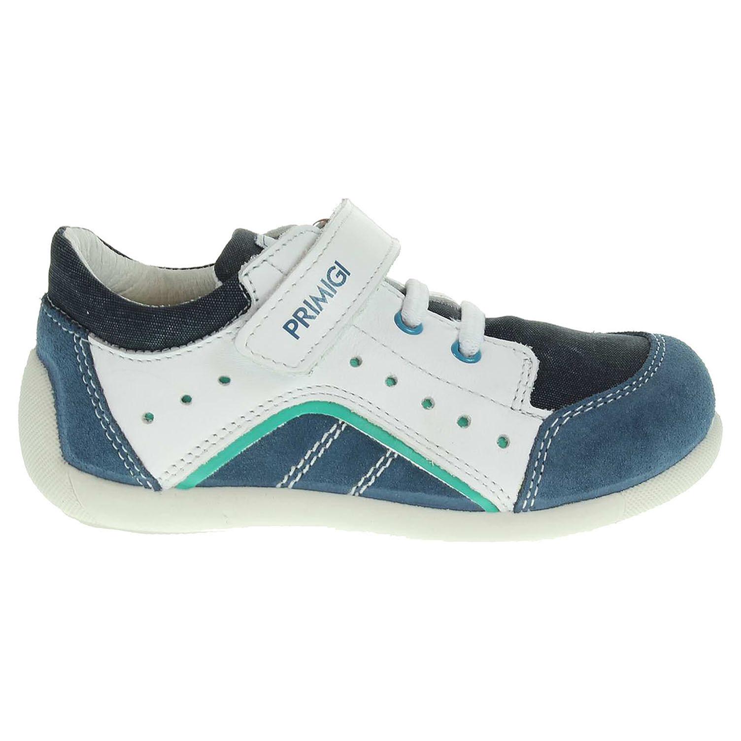 Ecco Primigi Delhi 5512200 chlapecké kotníkové bílá-modrá 29400064