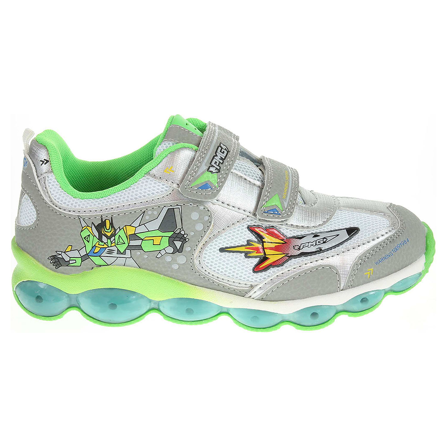 Ecco Primigi Autobot Light 5301100 chlapecká obuv stříbrná 29700078