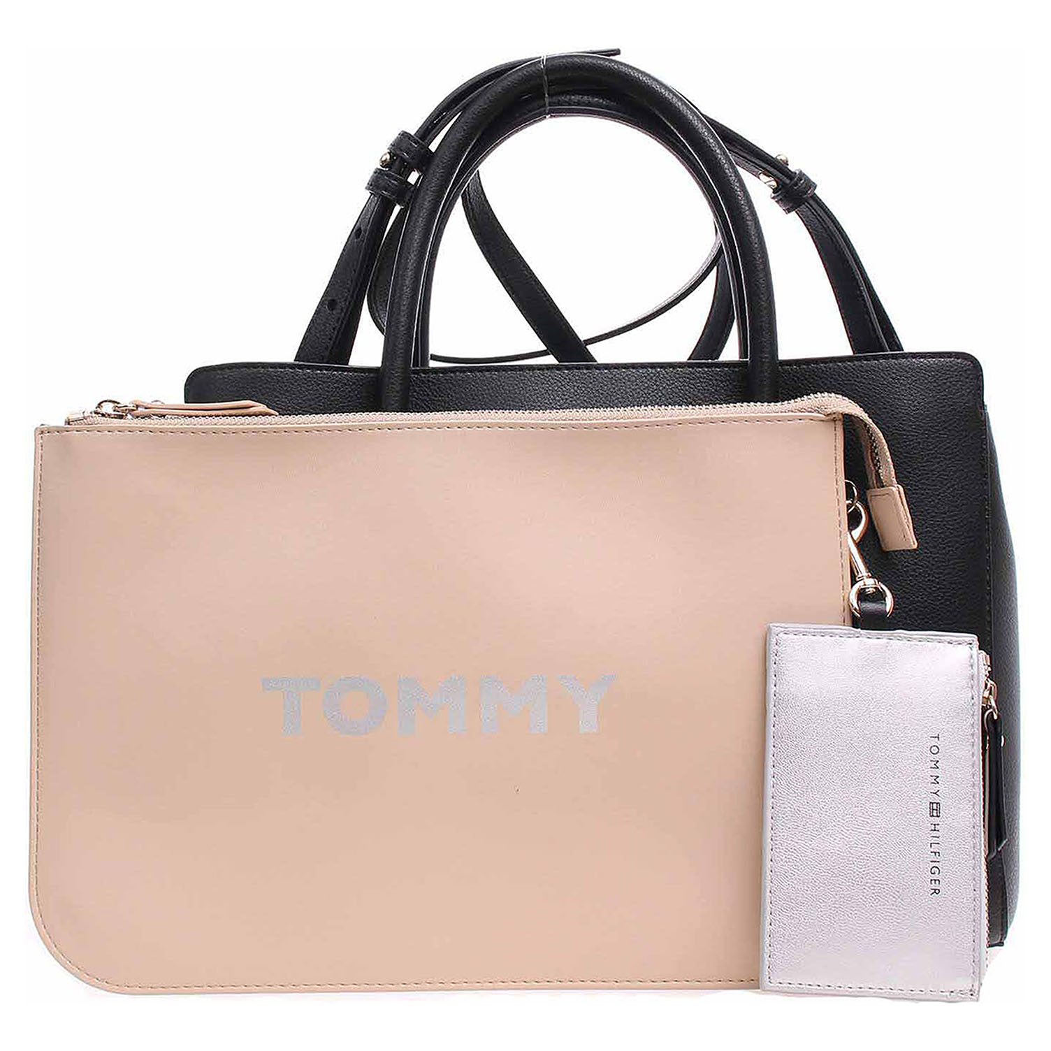 Ecco Tommy Hilfiger dámská kabelka AW0AW06487 002 black-warm sand 11891495 d155b29b70d