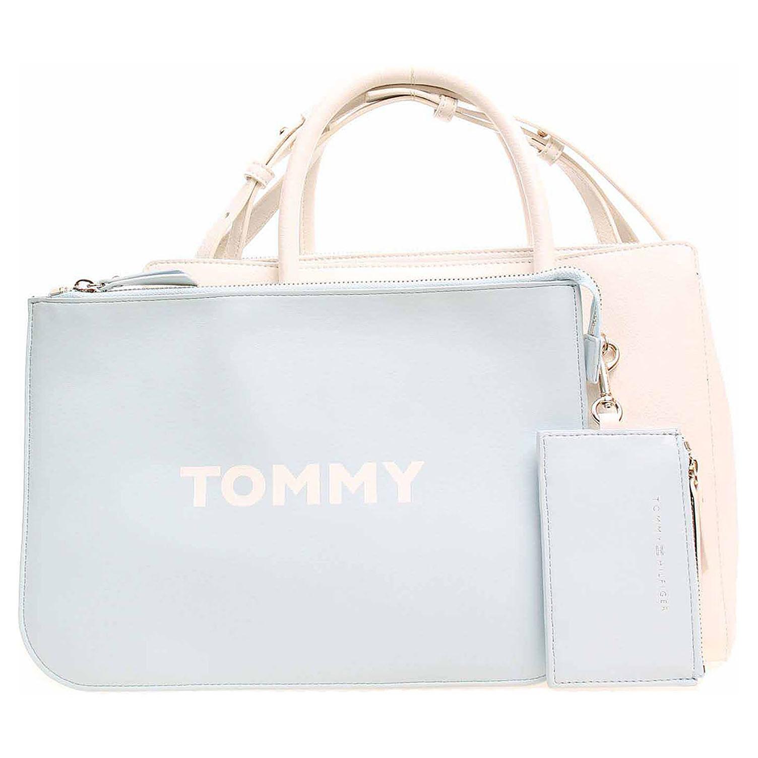 Ecco Tommy Hilfiger dámská kabelka AW0AW06487 104 bright white-tommy navy  11891496 accf72fb275