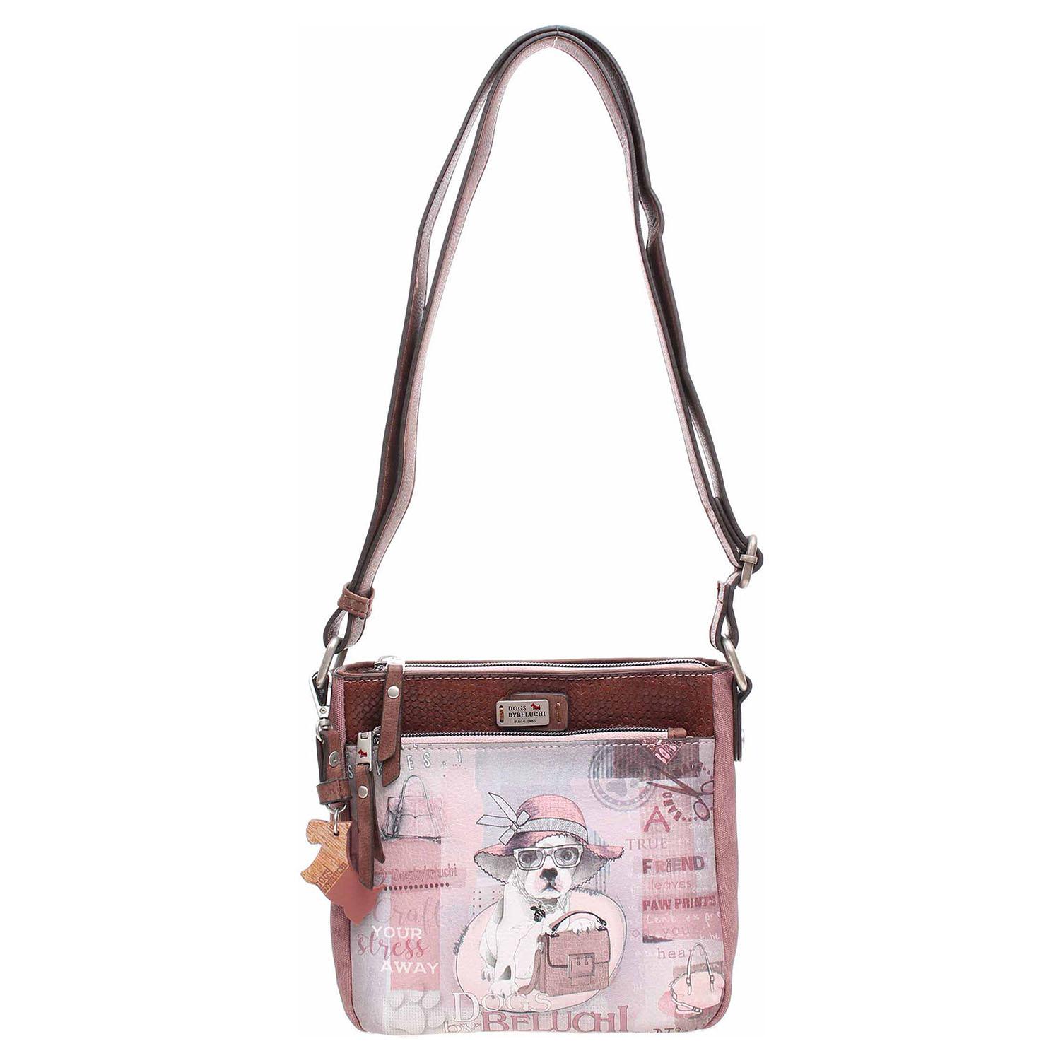 Ecco Dogsbybeluchi dámská kabelka 28402-01 růžová 11891556