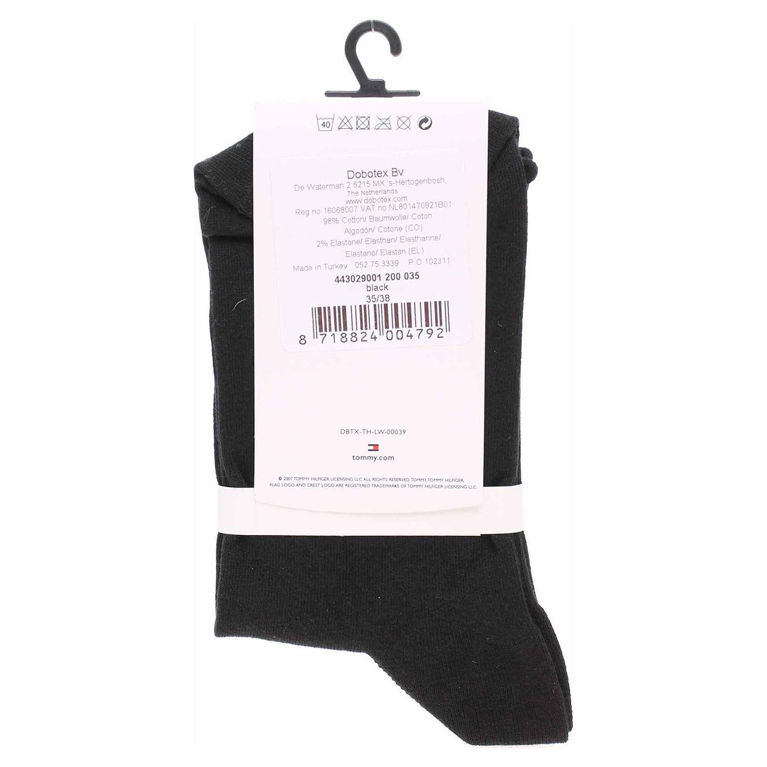 Ecco Tommy Hilfiger dámské ponožky 443029001 black 13201934