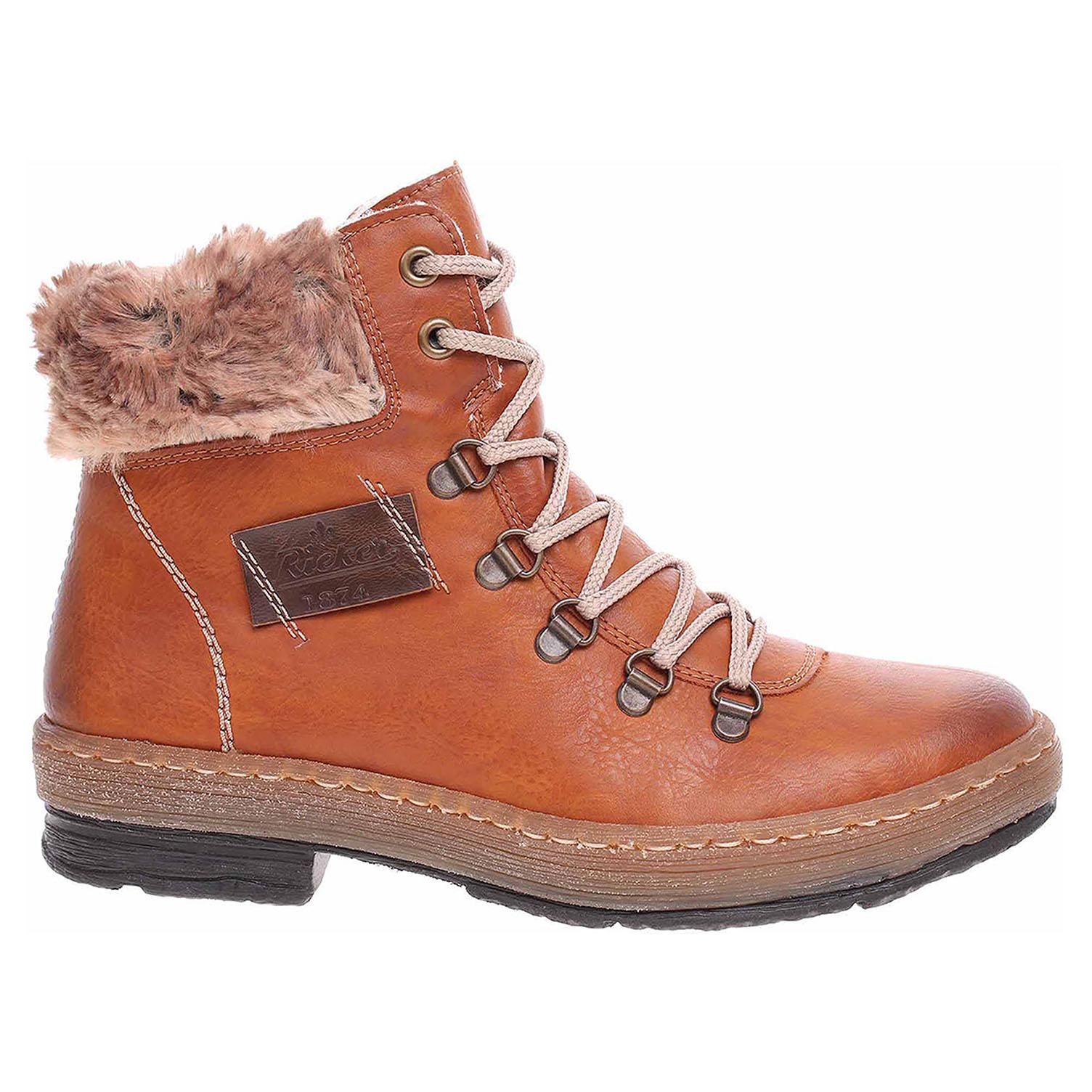 9560388843157 Ecco Dámská kotníková obuv Rieker Z6743-24 braun 22400513