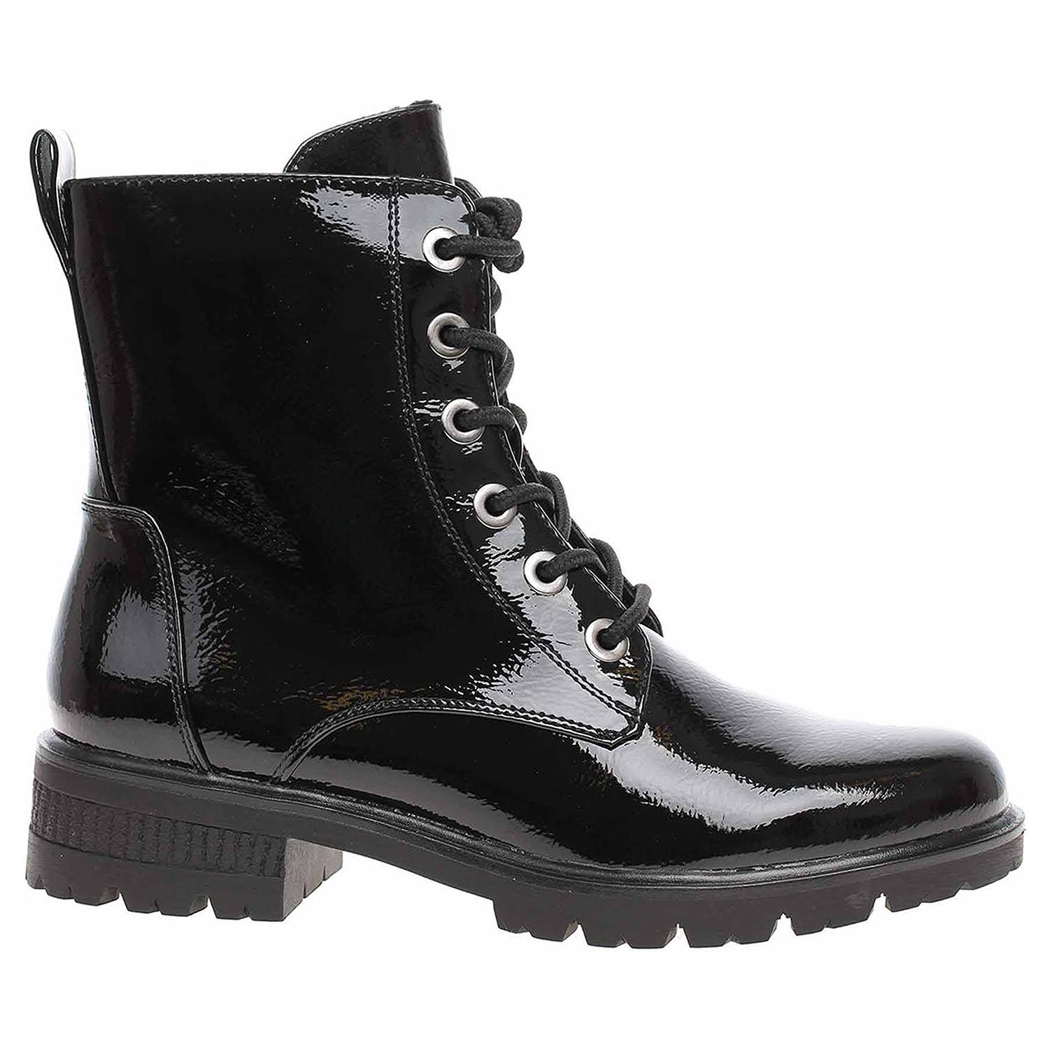 Levně Dámská kotníková obuv Tamaris 1-25280-25 black patent 41