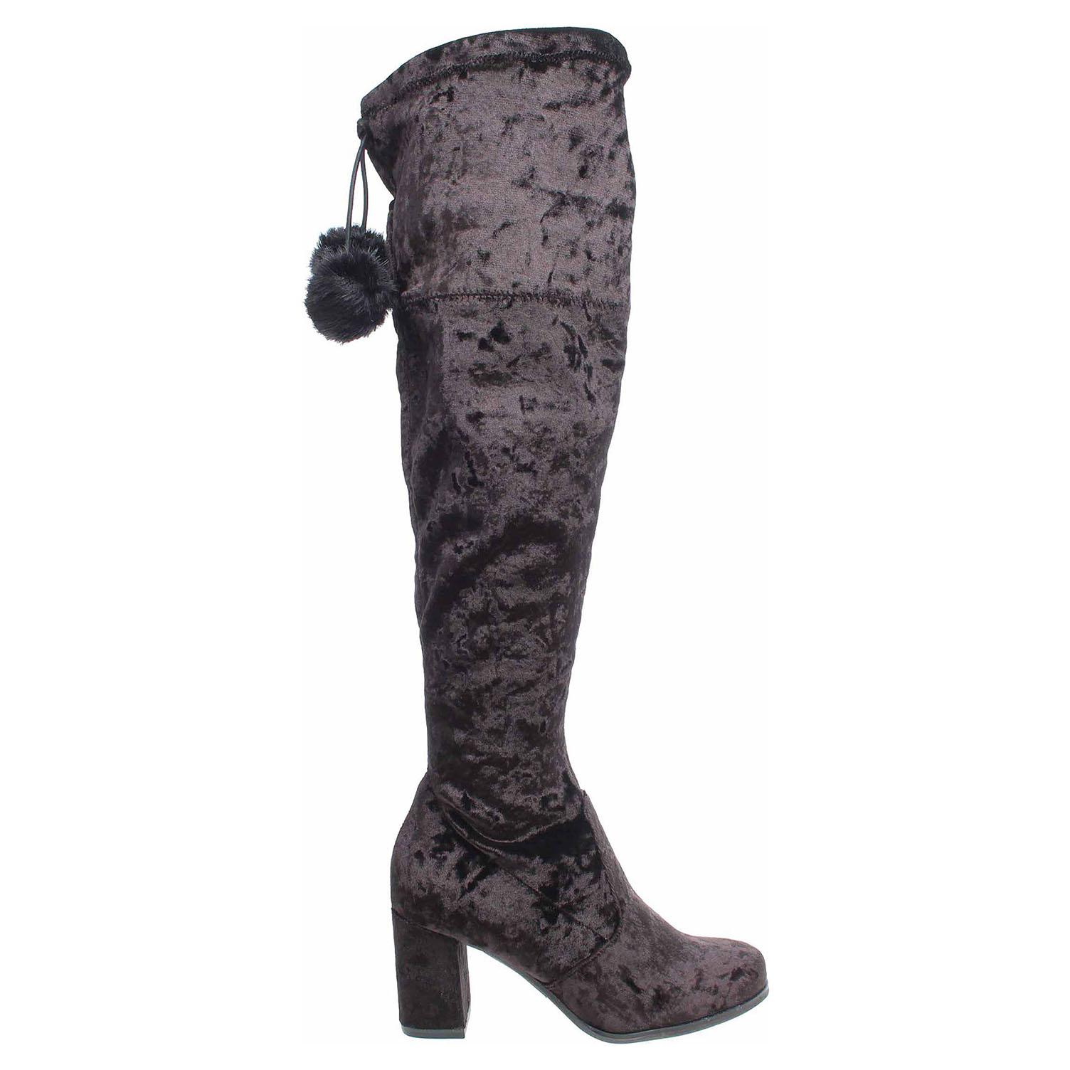 Ecco Tamaris dámské kozačky 1-25564-39 black velvet 22500834 f9cd07b499