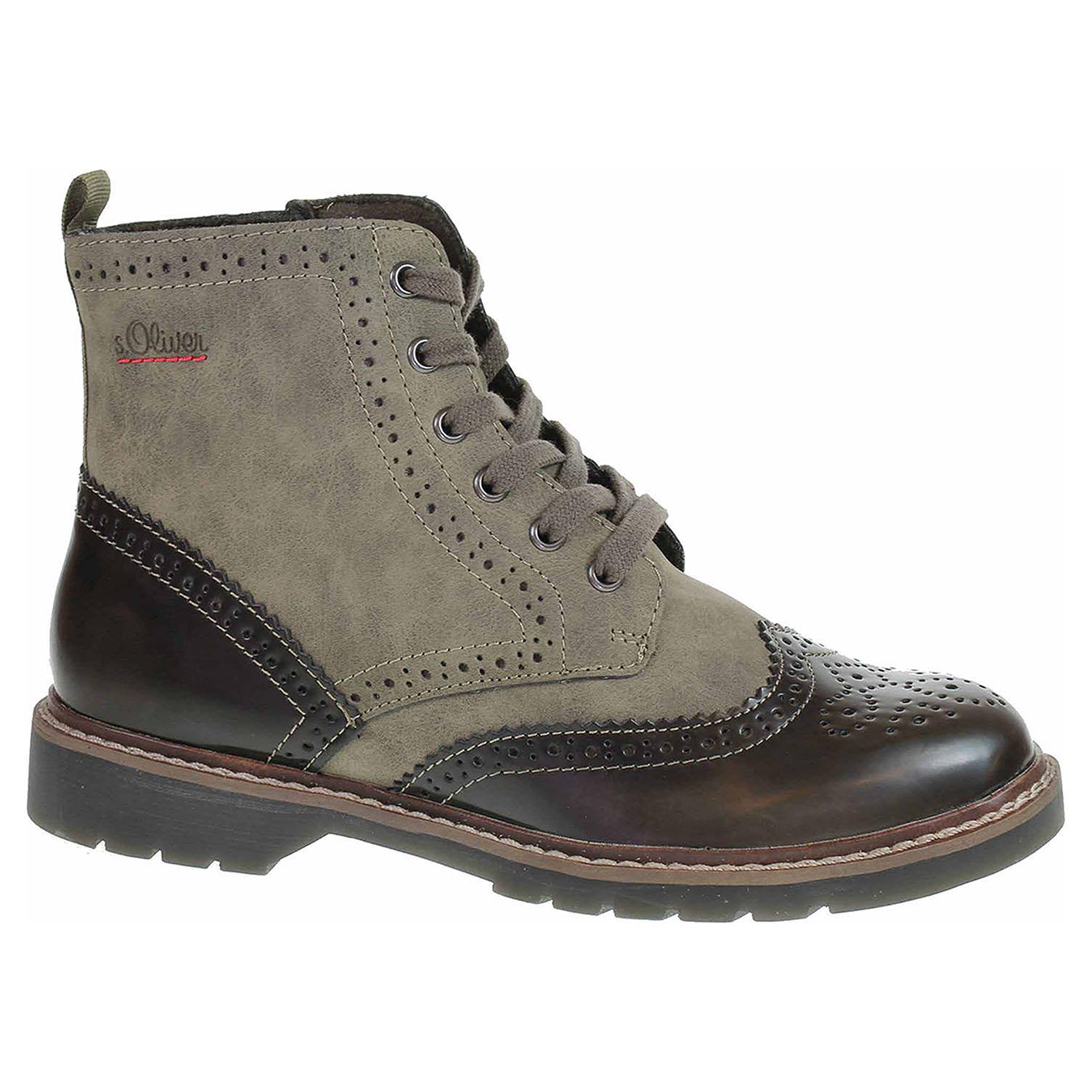 c8359a713d4ac Ecco Dámská kotníková obuv s.Oliver 5-25465-21 khaki comb 22600969