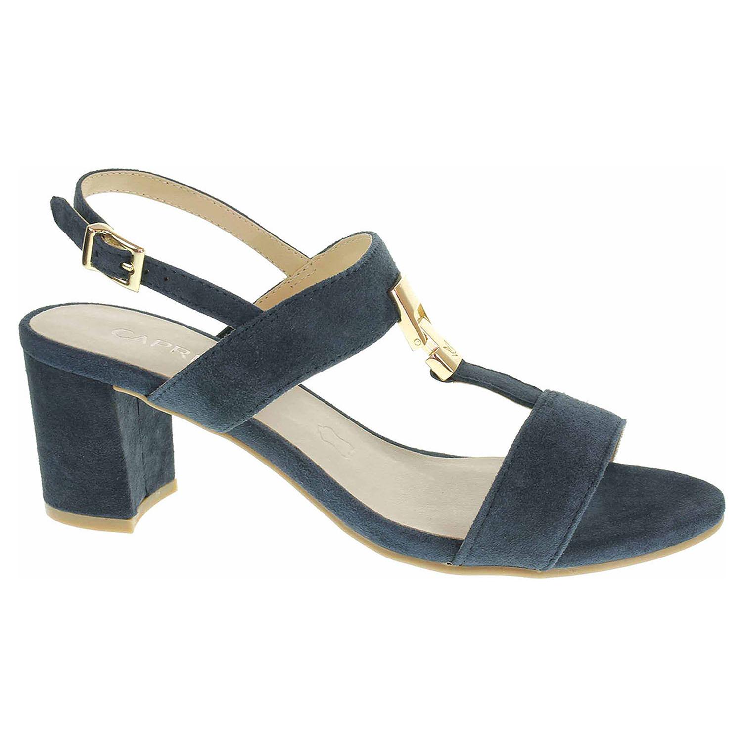 9/9-28303/22 857 ocean suede módní dámské sandály, semišové CAPRICE