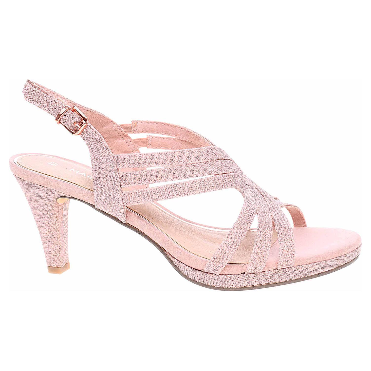 Levně Dámská společenská obuv Marco Tozzi 2-28329-34 rose metallic 37