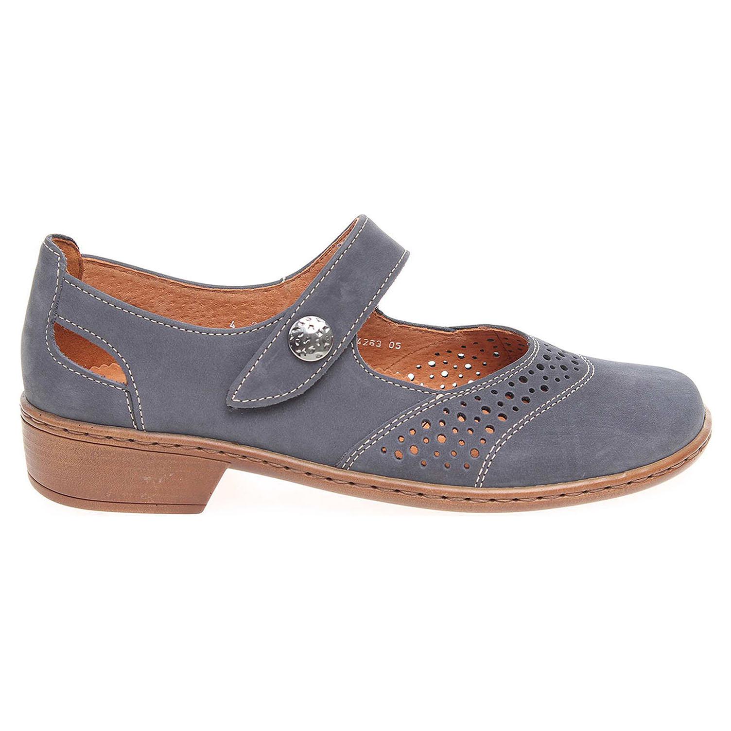 Ecco Ara dámské lodičky 54263-05 modré 22901264